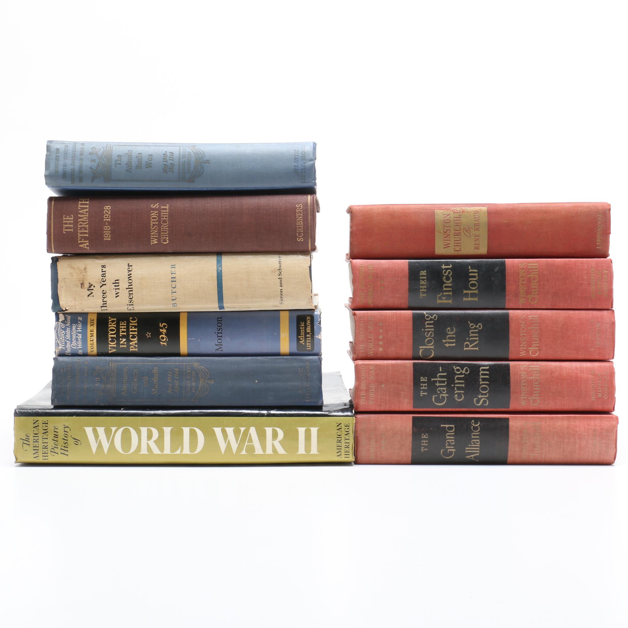 World War II Books featuring Naval Operations, Churchill and Eisenhower
