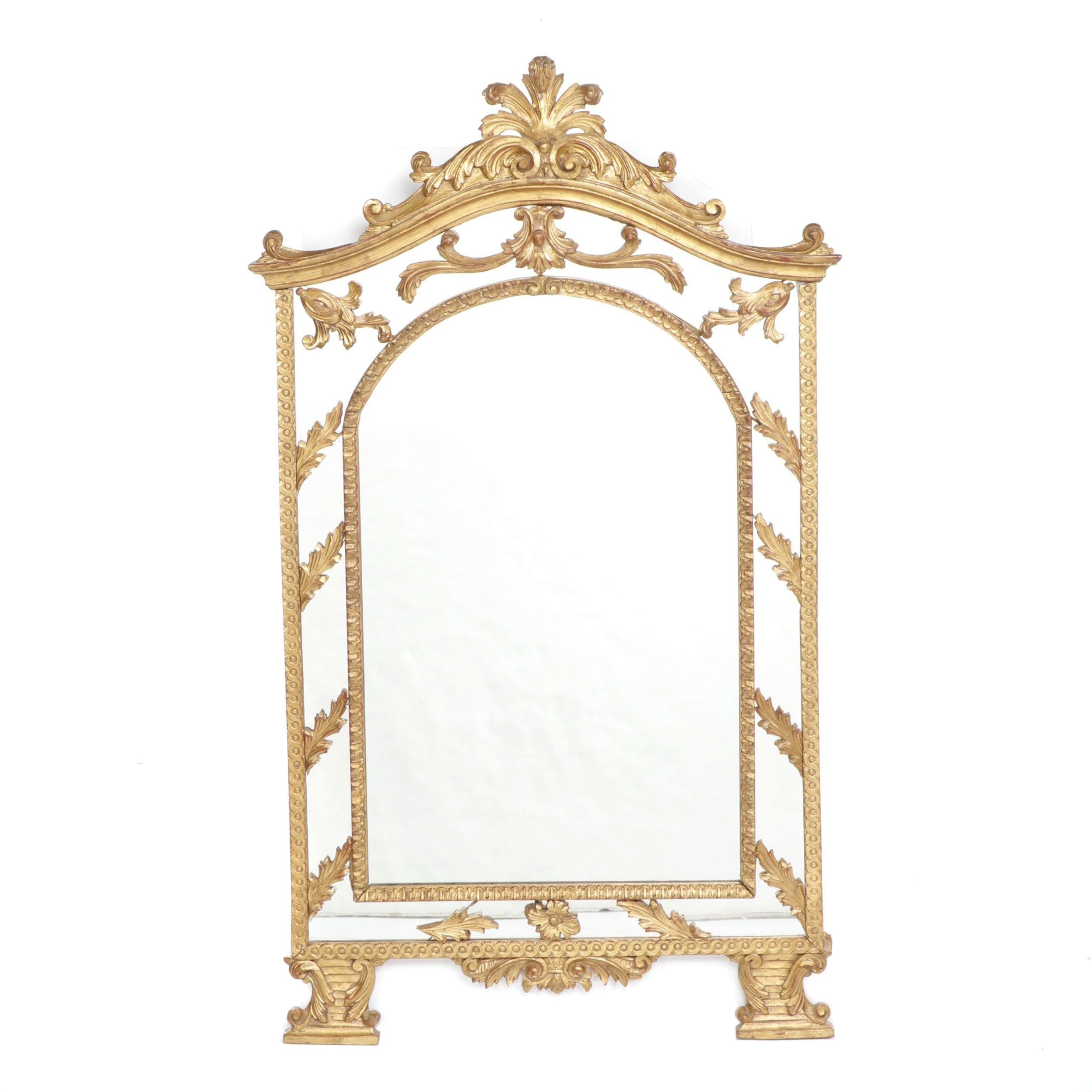 Baroque Style Gold-Tone Frame Wall Mirror