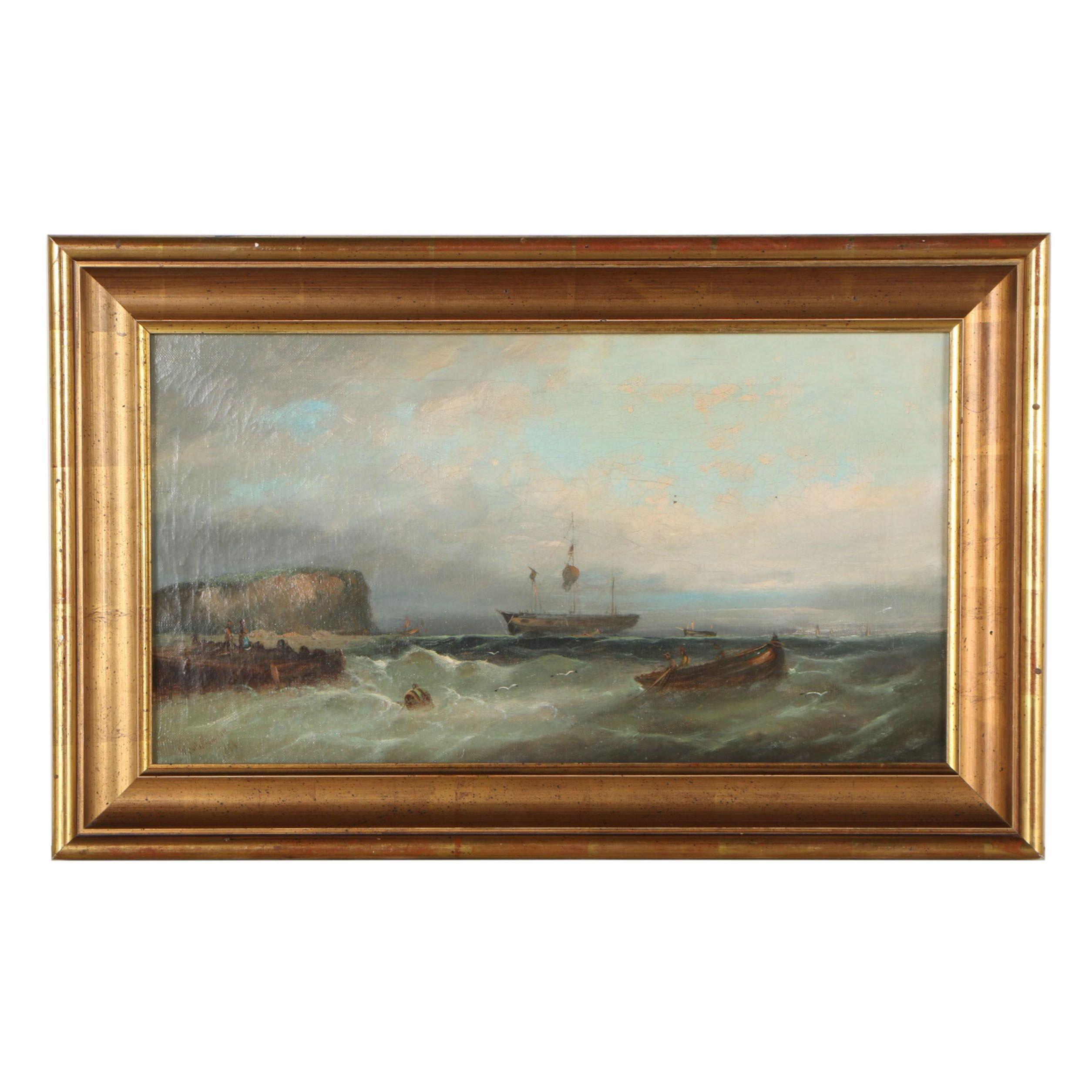 William Henry Williamson Nautical Oil Painting, 1883
