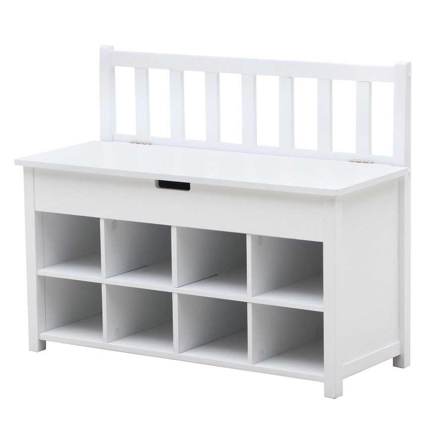Pleasant Mission Style Painted Storage Bench Gmtry Best Dining Table And Chair Ideas Images Gmtryco