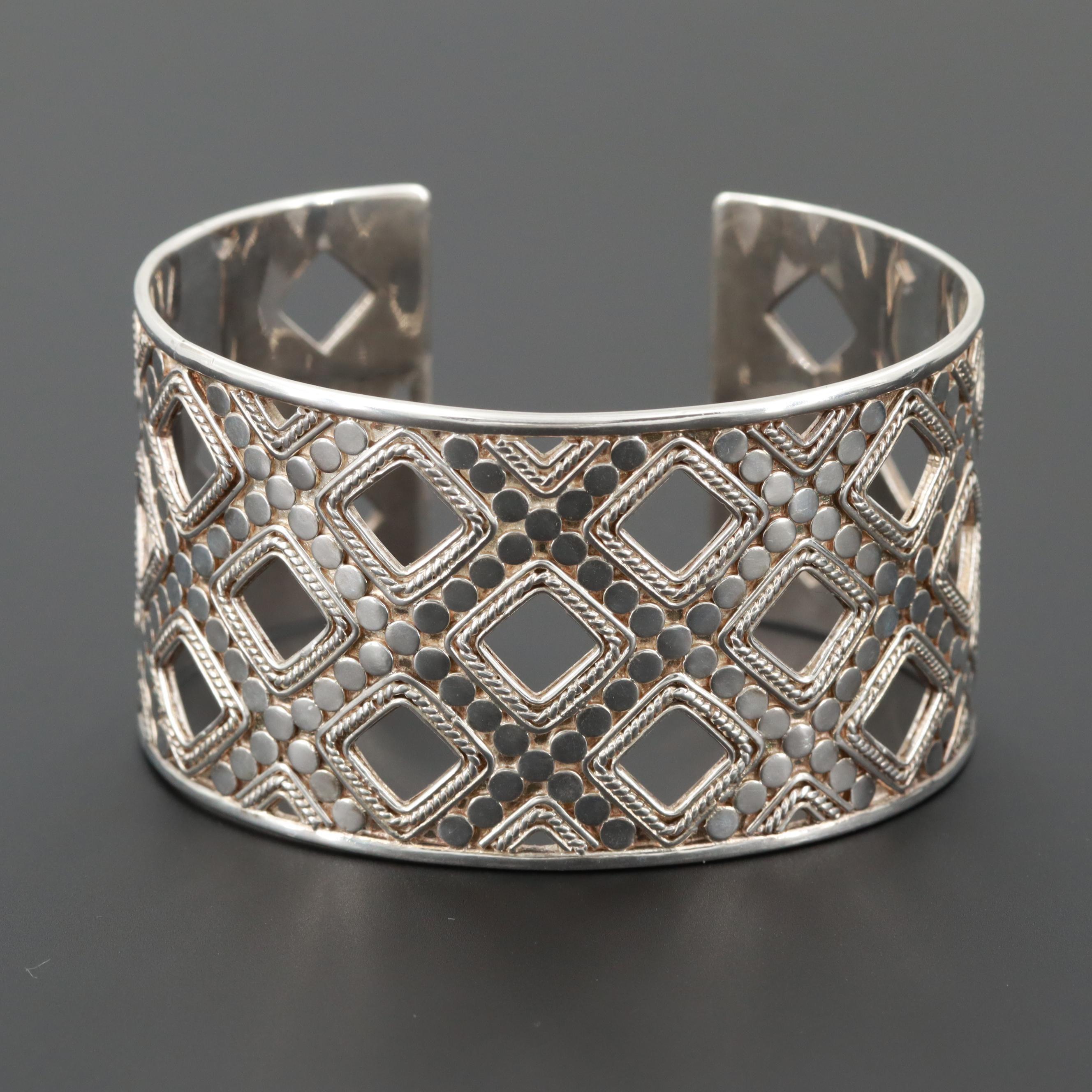 Anna Beck Sterling Silver Openwork Cuff Bracelet