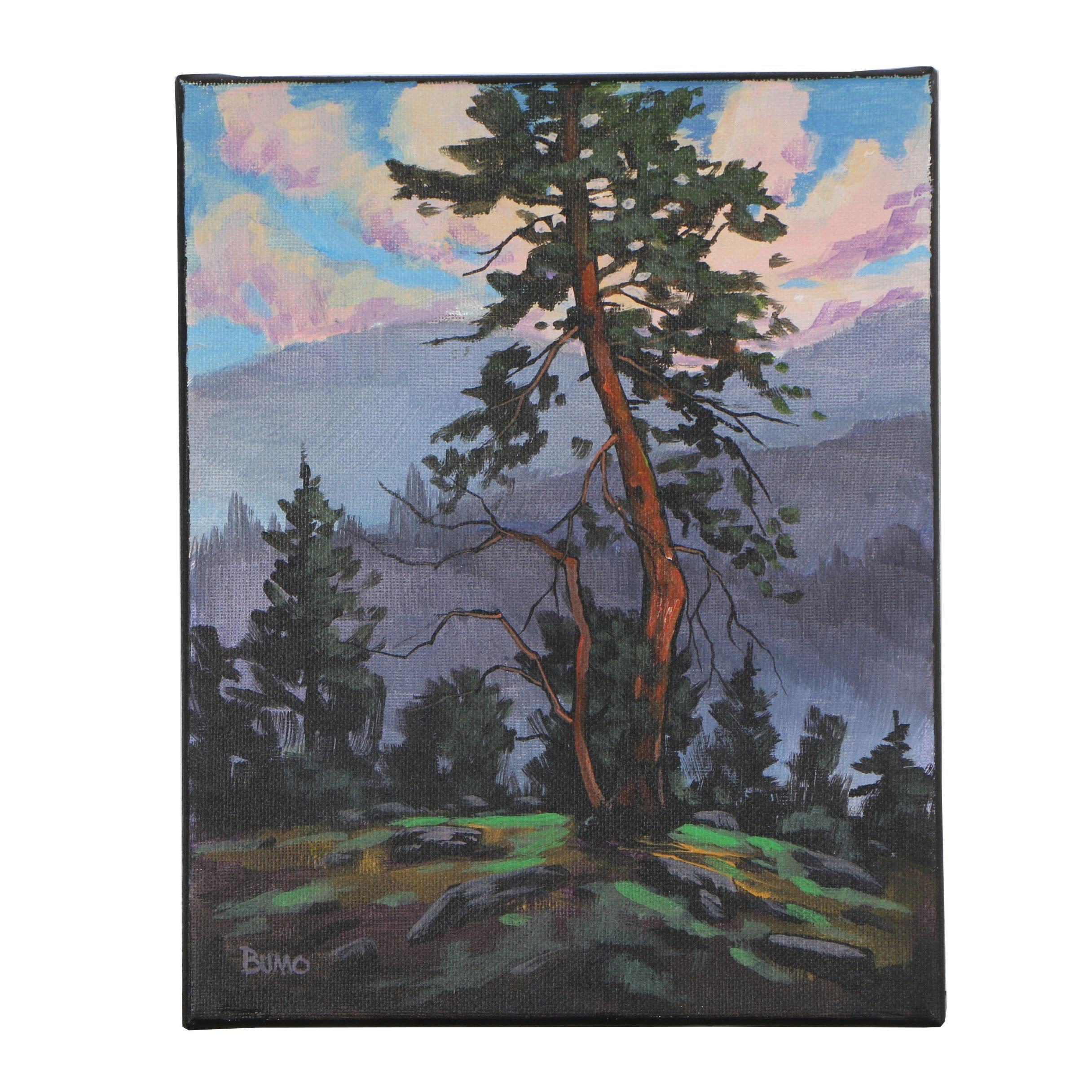 "Douglas ""Bumo"" Johnpeer Oil Painting ""Mountain View"""