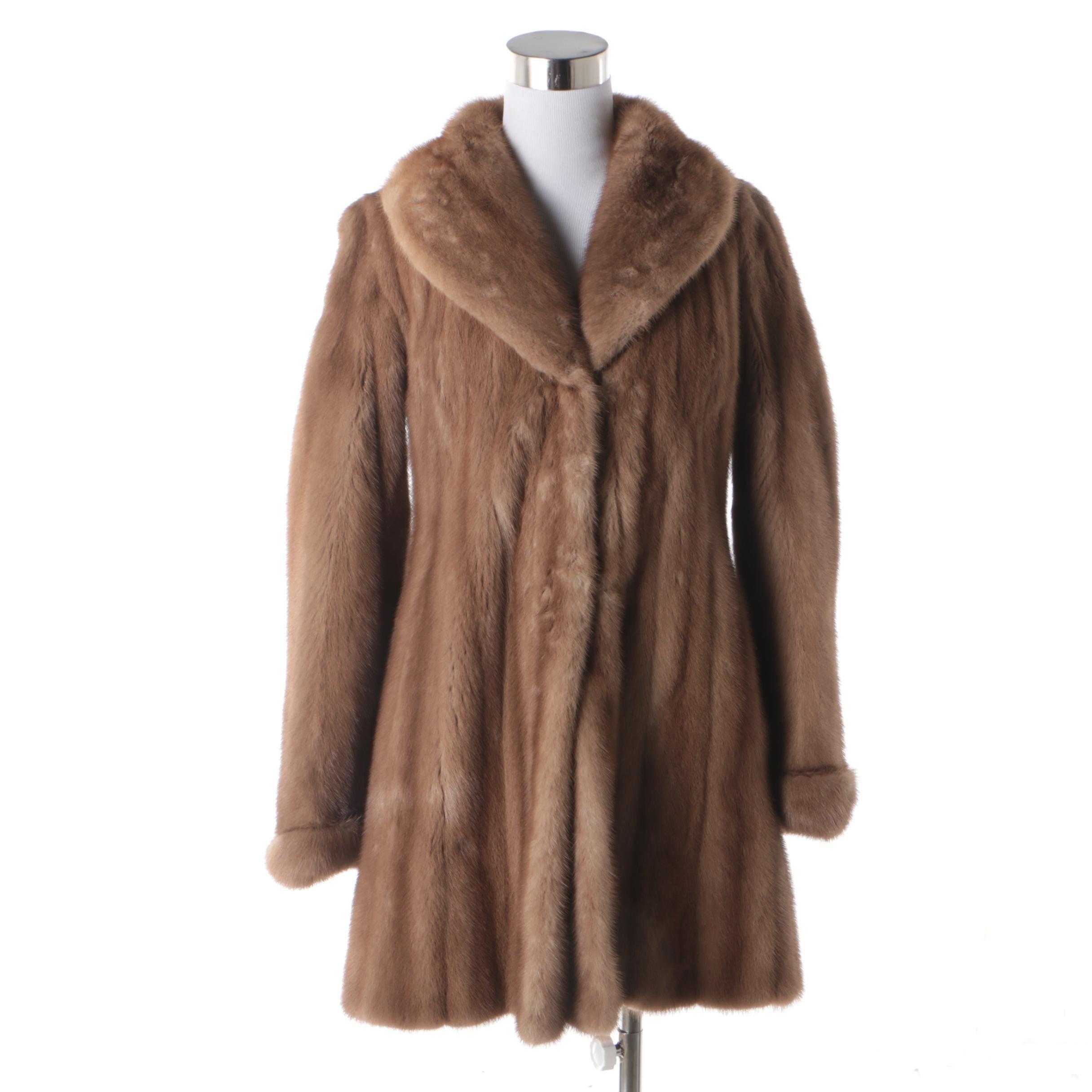 Women's Sakowitz Mink Fur Stroller Coat