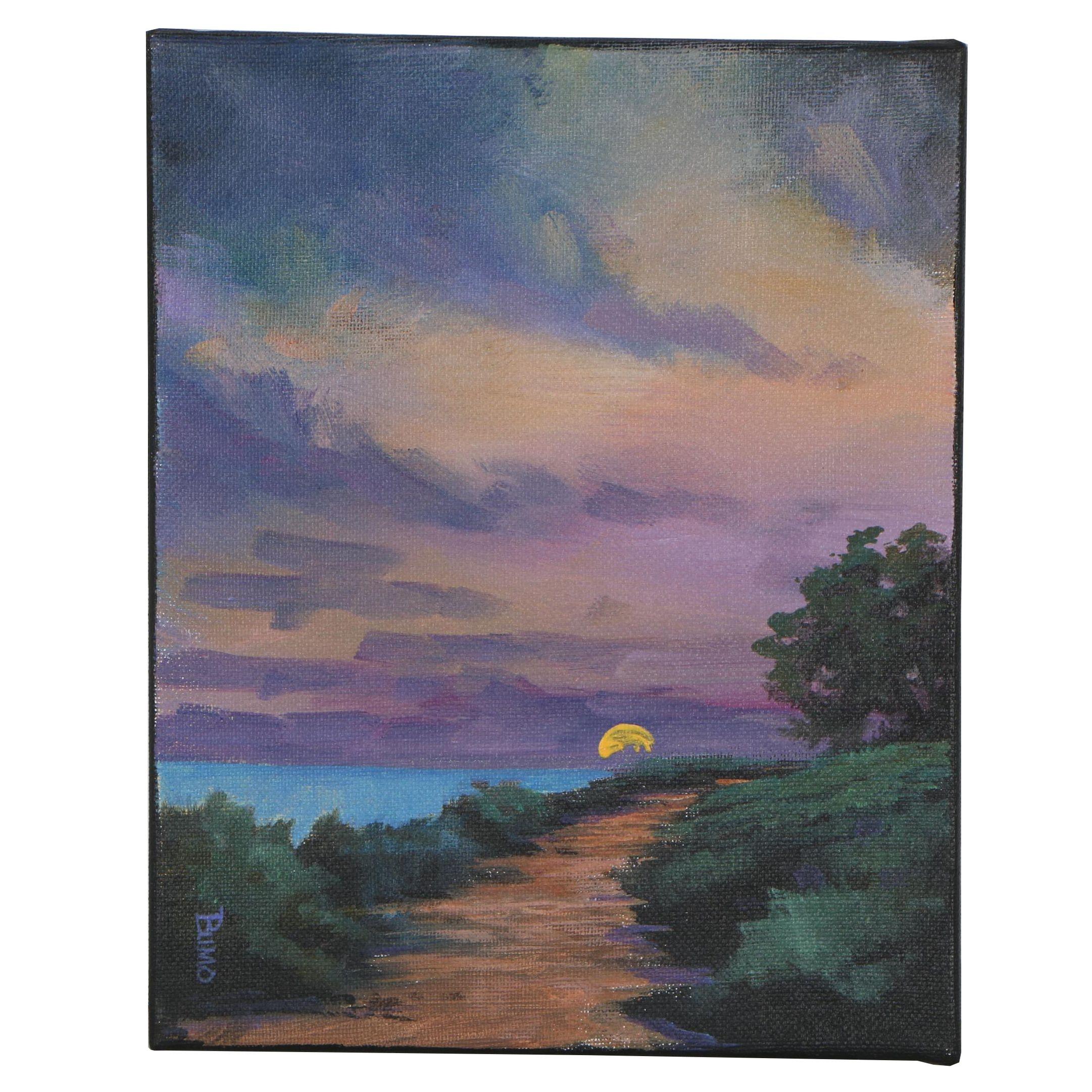 "Douglas ""Bumo"" Johnpeer Oil Painting ""Beach Access"""