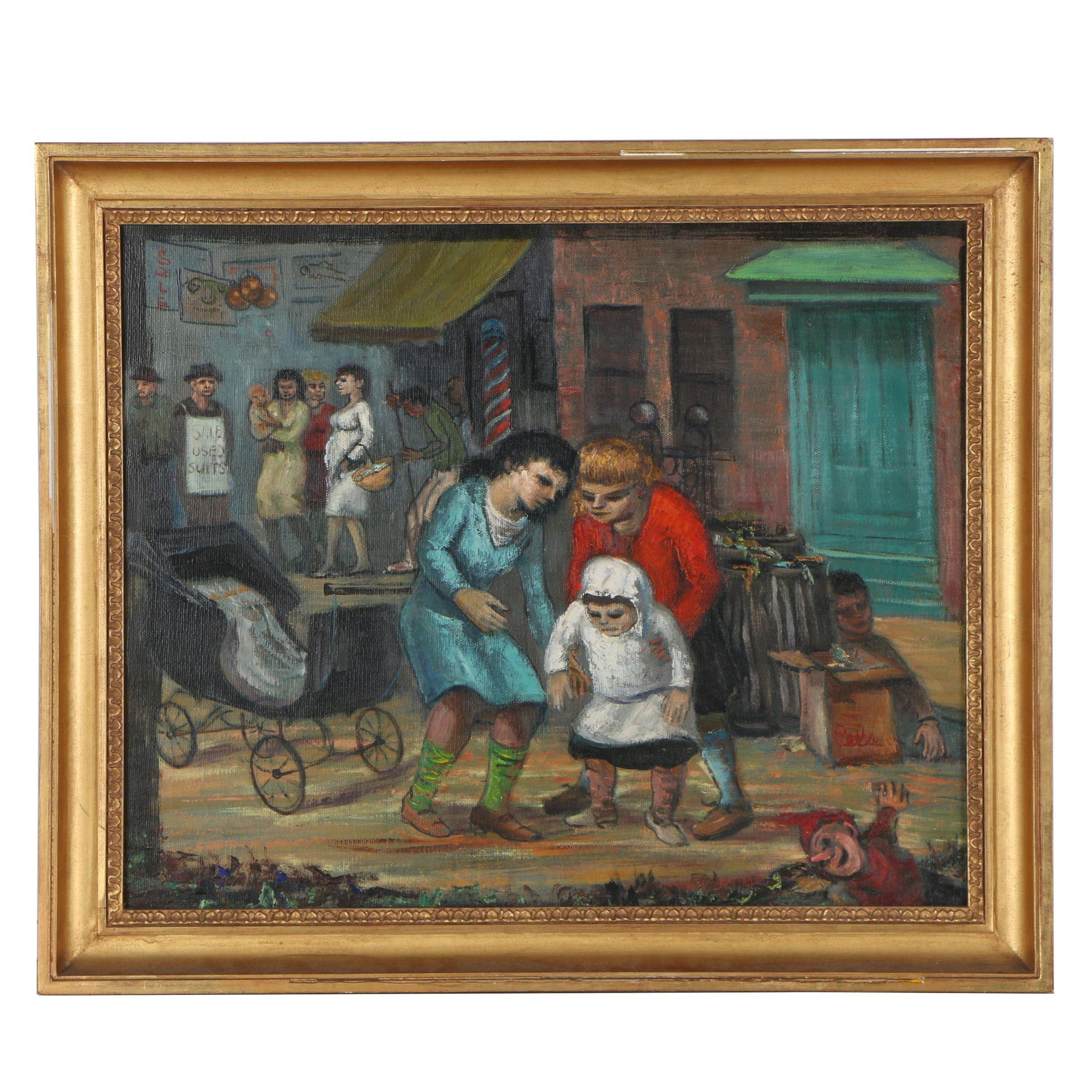 """Albert Pels Oil Painting """"The Kid Sister"""""""