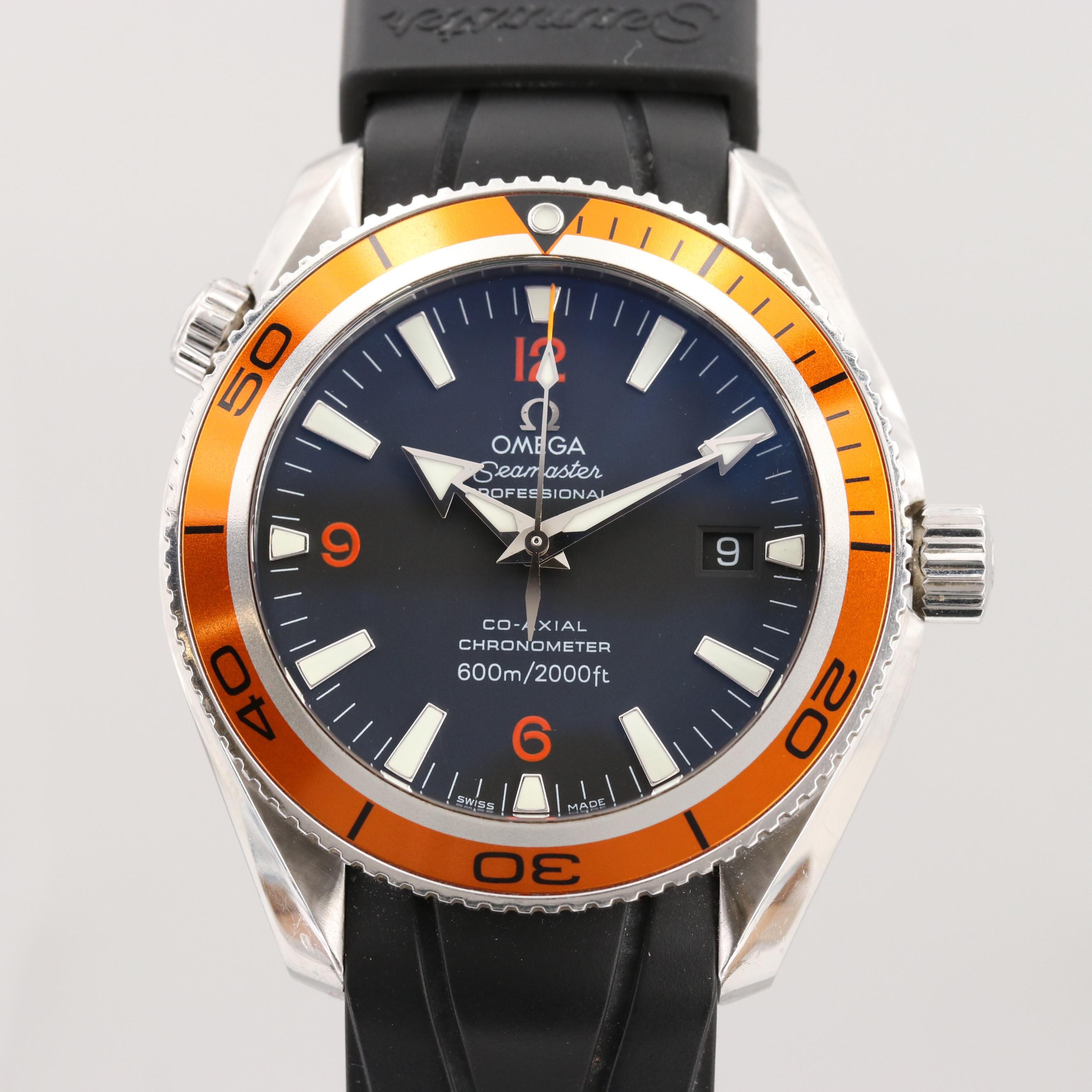 Omega Seamaster Planet Ocean Stainless Steel Automatic Wristwatch