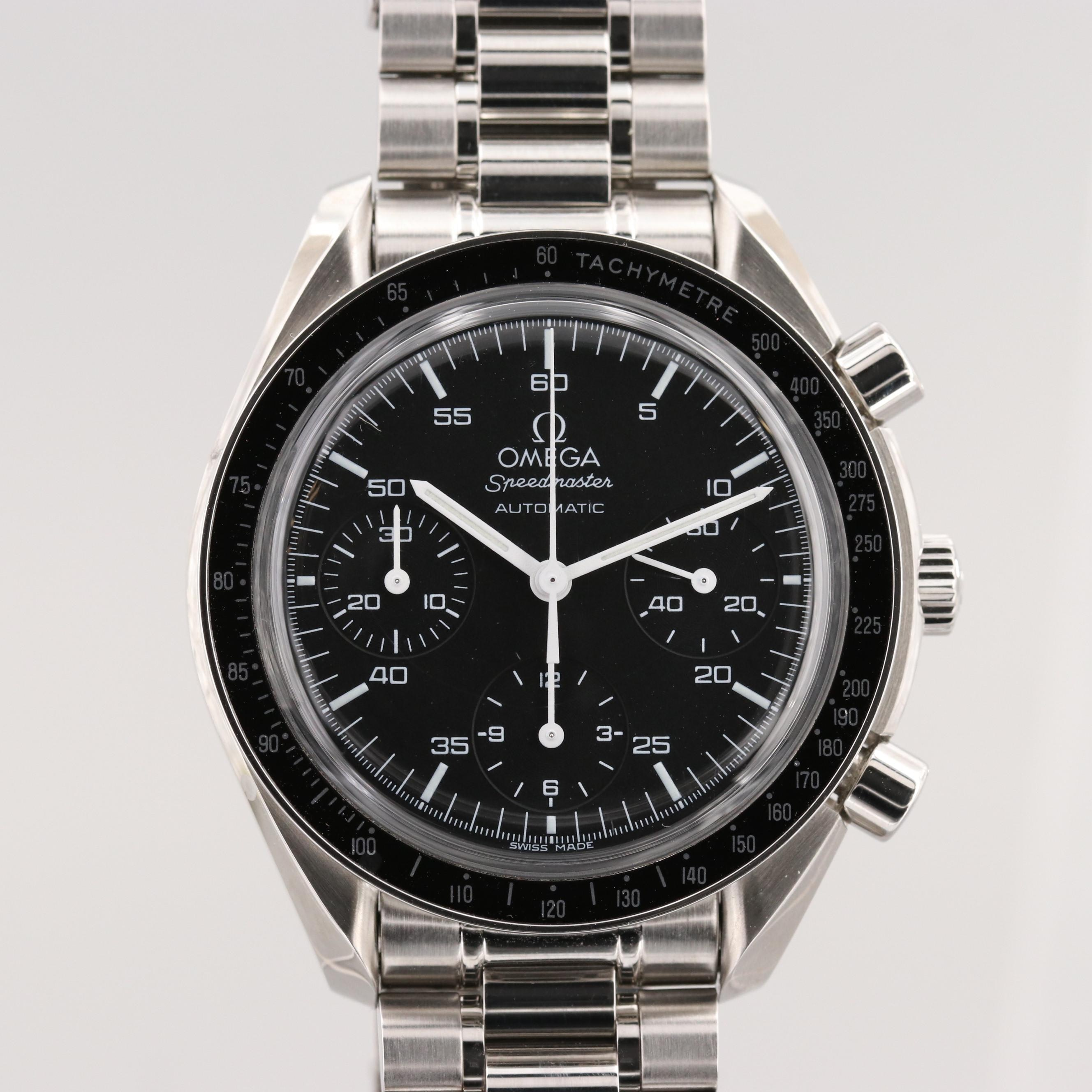 Omega Speedmaster Reduced Stainless Steel Wristwatch