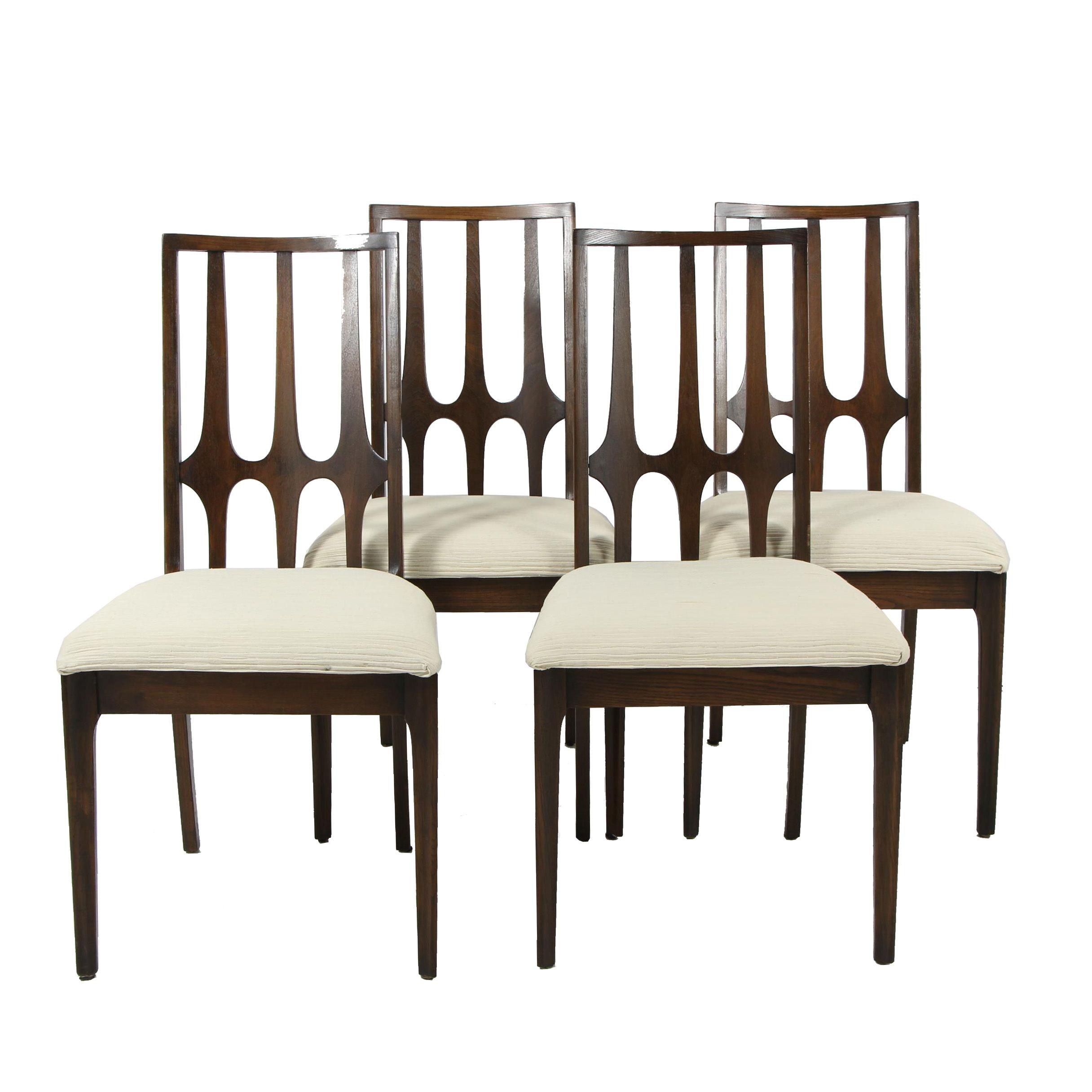 Broyhill Brasilia Walnut Side Chairs, Set of Four