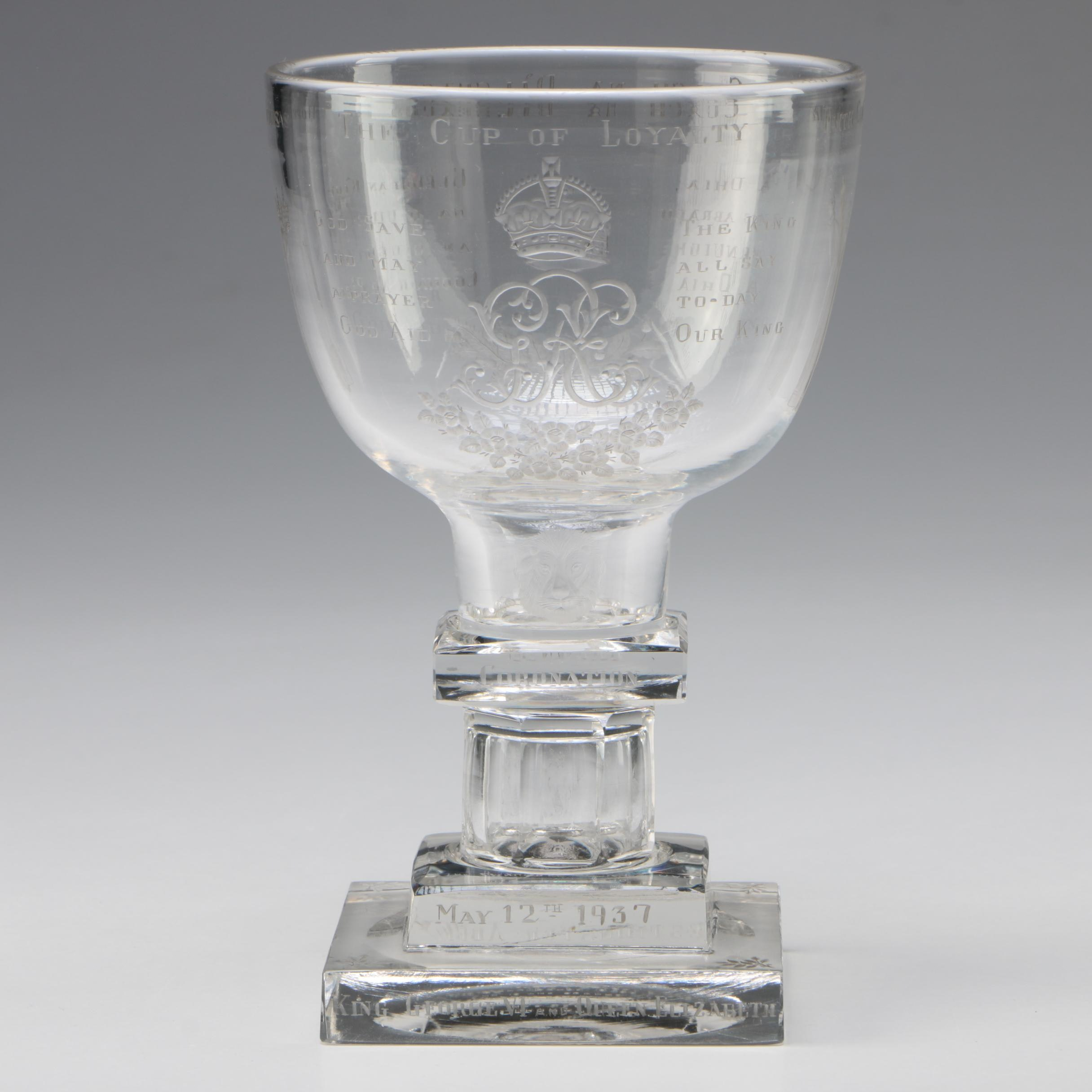 """The Cup Of Loyalty"" A Webbs Engraved Commemorative Coin Goblet"