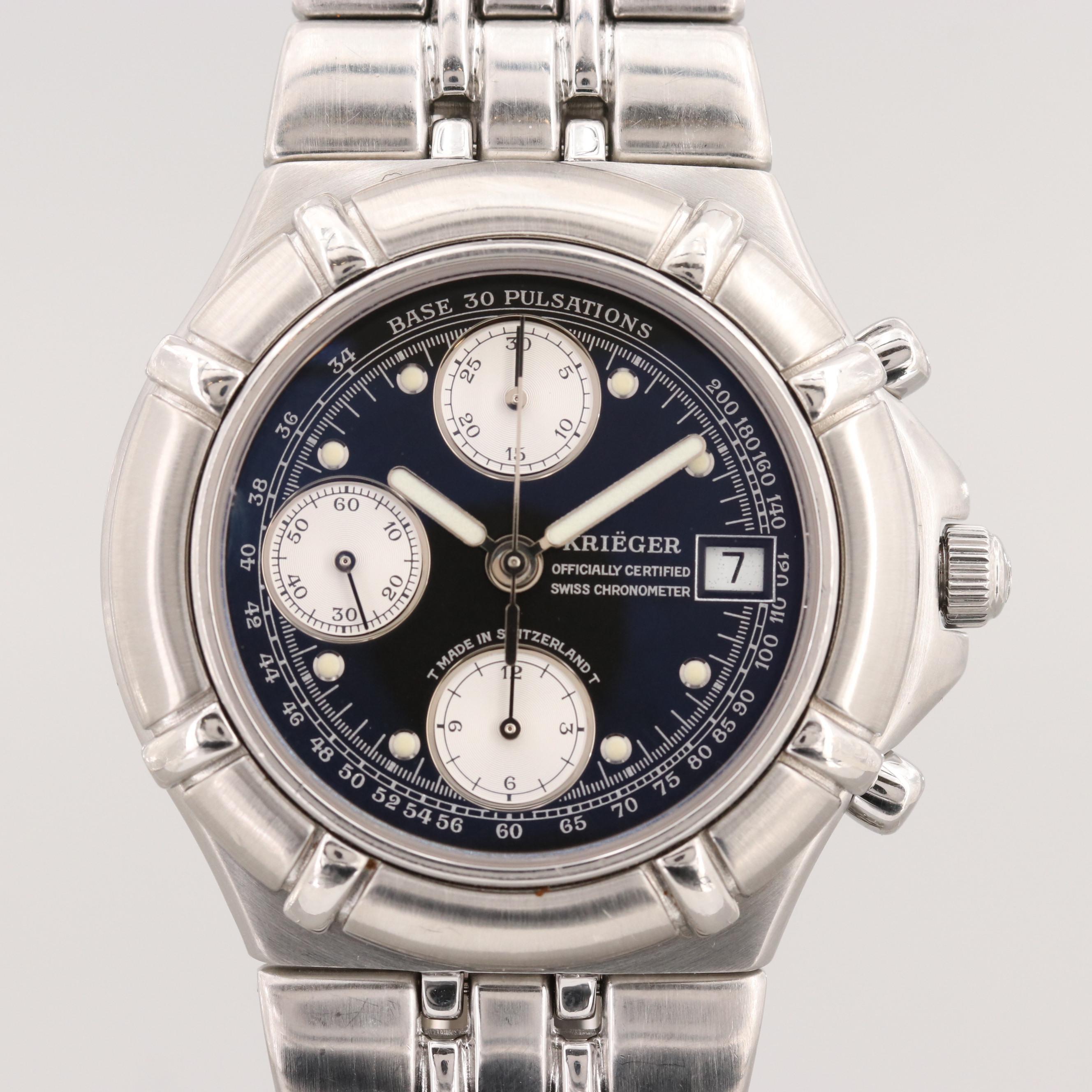 Kriëger Aficionado Stainless Steel Chronograph Automatic Wristwatch