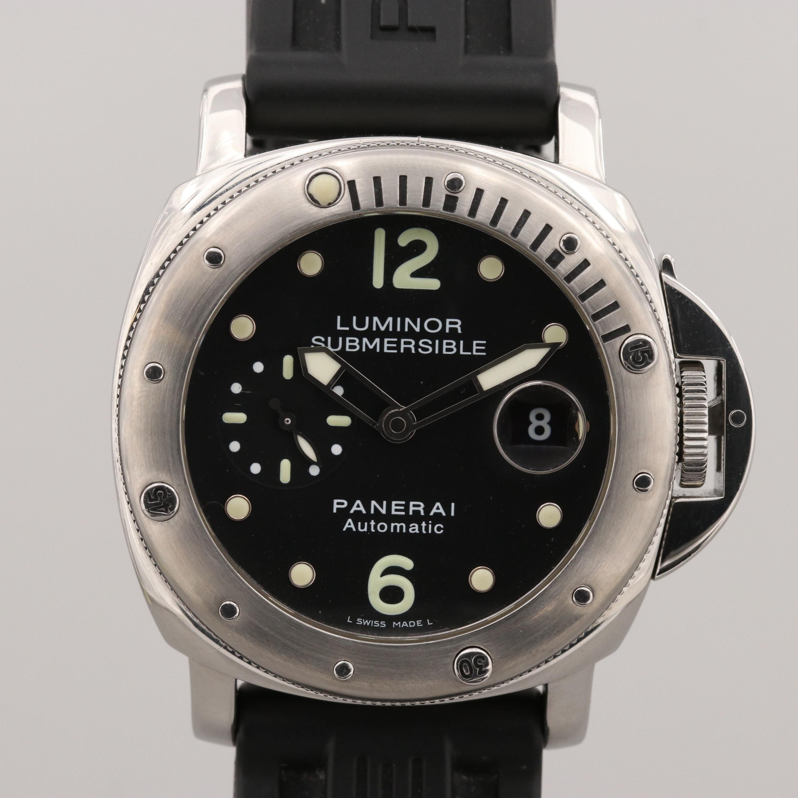 Panerai Luminor Submersible Stainless Steel Automatic Wristwatch
