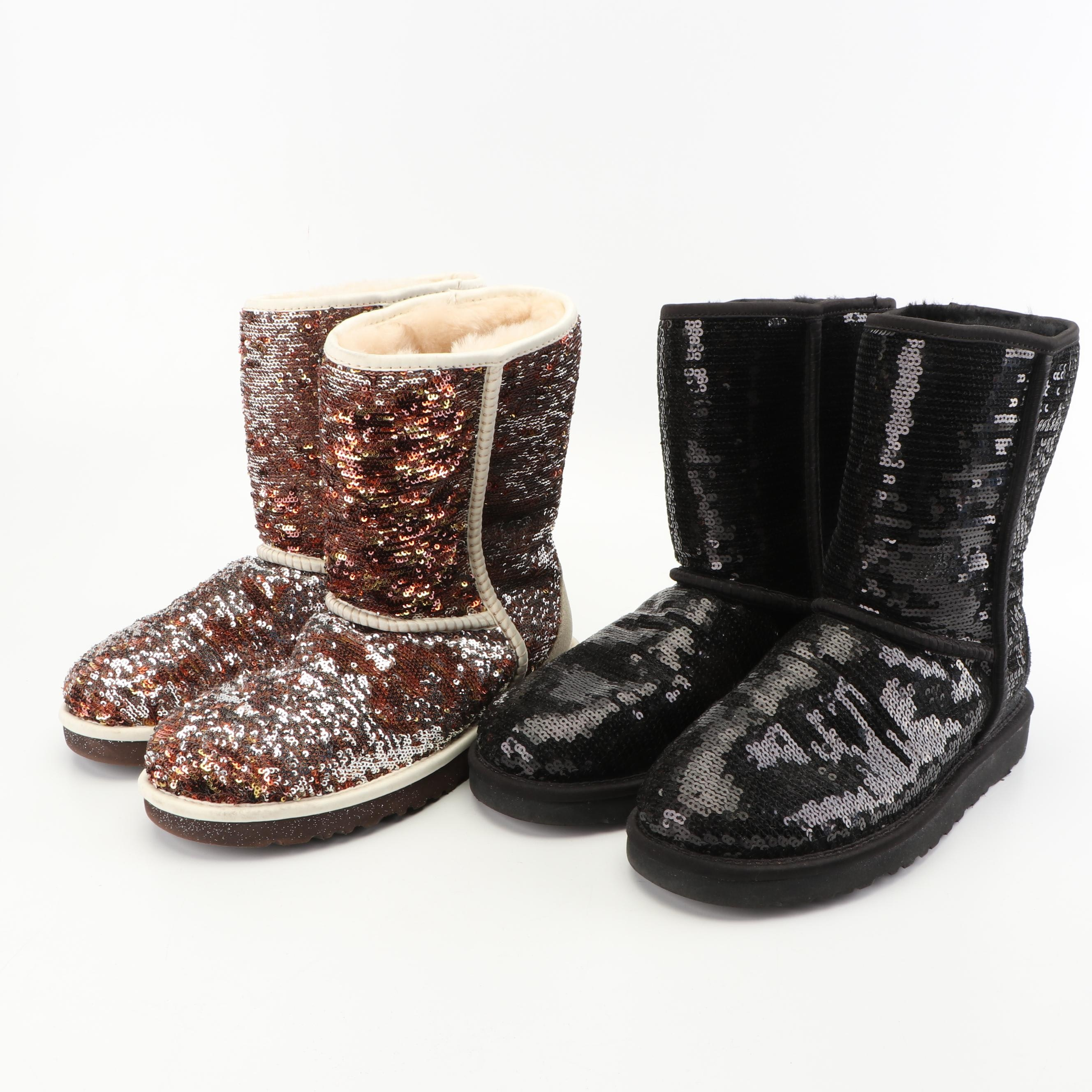 UGG Australia Classic Sequin and Wool Short Boots