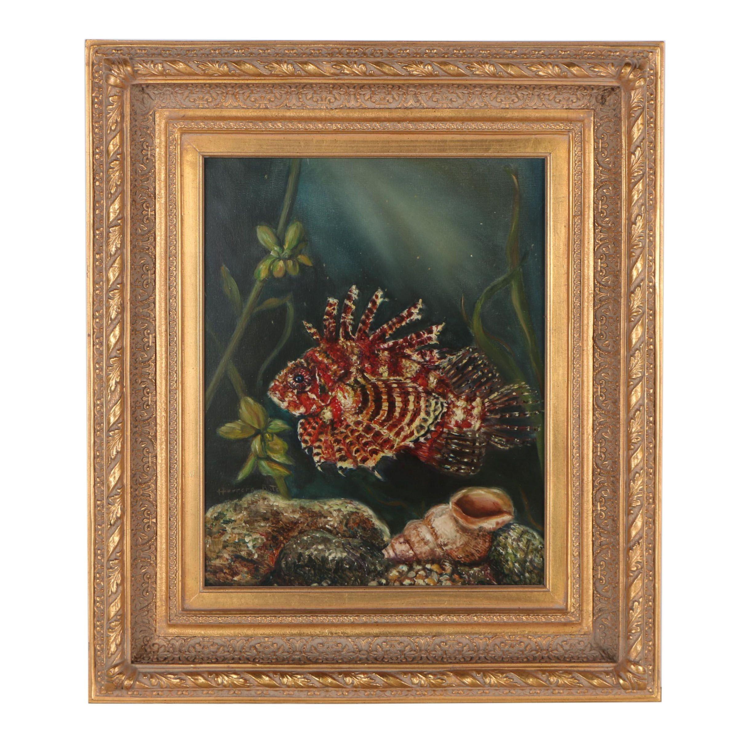 Rosa Herrera Bates Oil Painting of a Fish