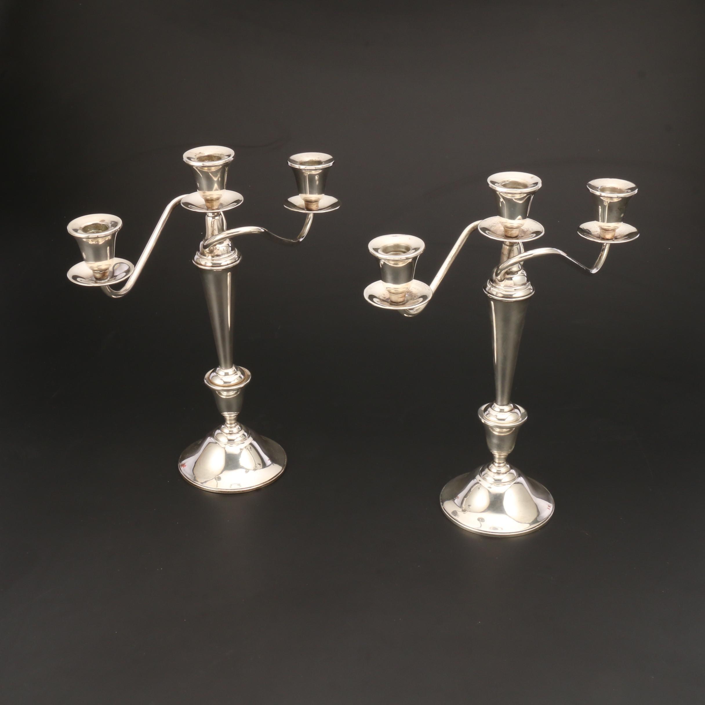 International Sterling Silver Weighted Candelabra