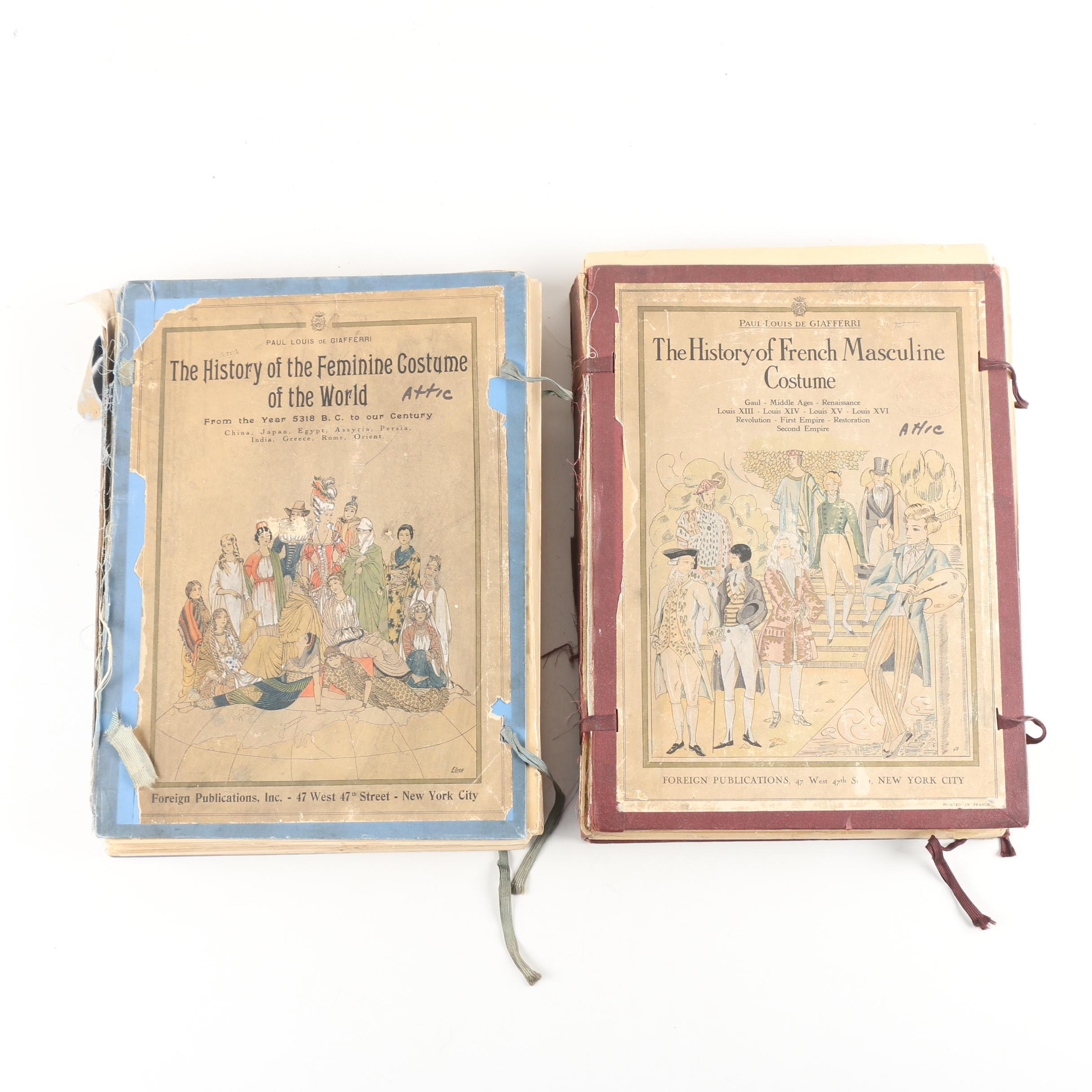Illustrated Histories of French Costumes by De Giafferri