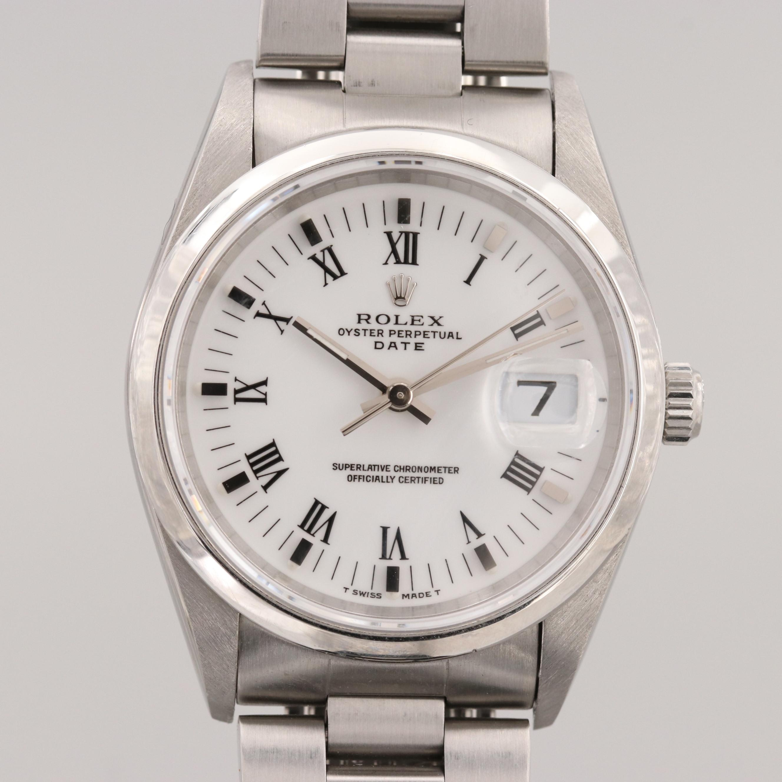 Rolex Perpetual Date Stainless Steel 34mm Automatic Wristwatch, 1996