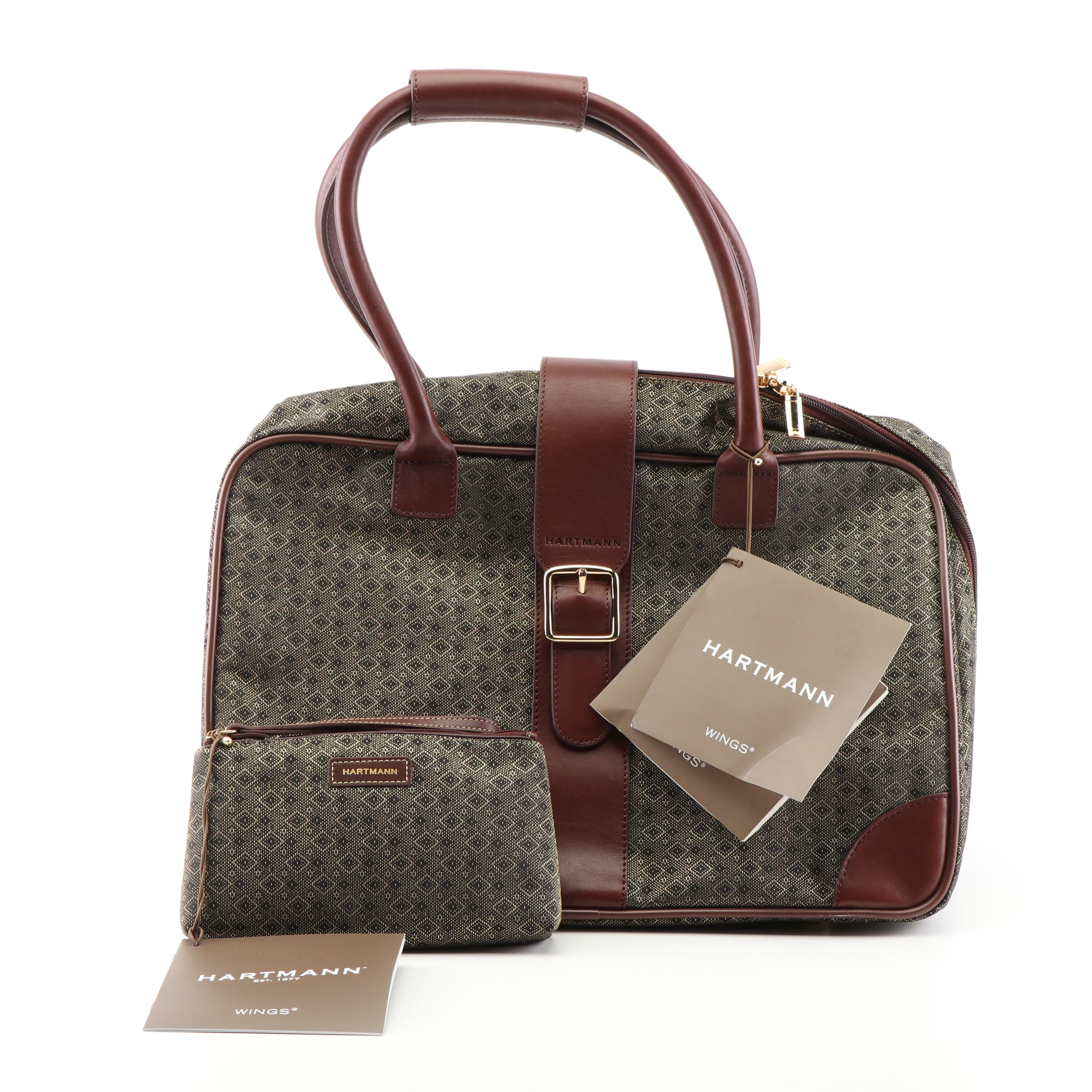 Hartmann Wings Canvas and Leather Small Satchel and Pouch