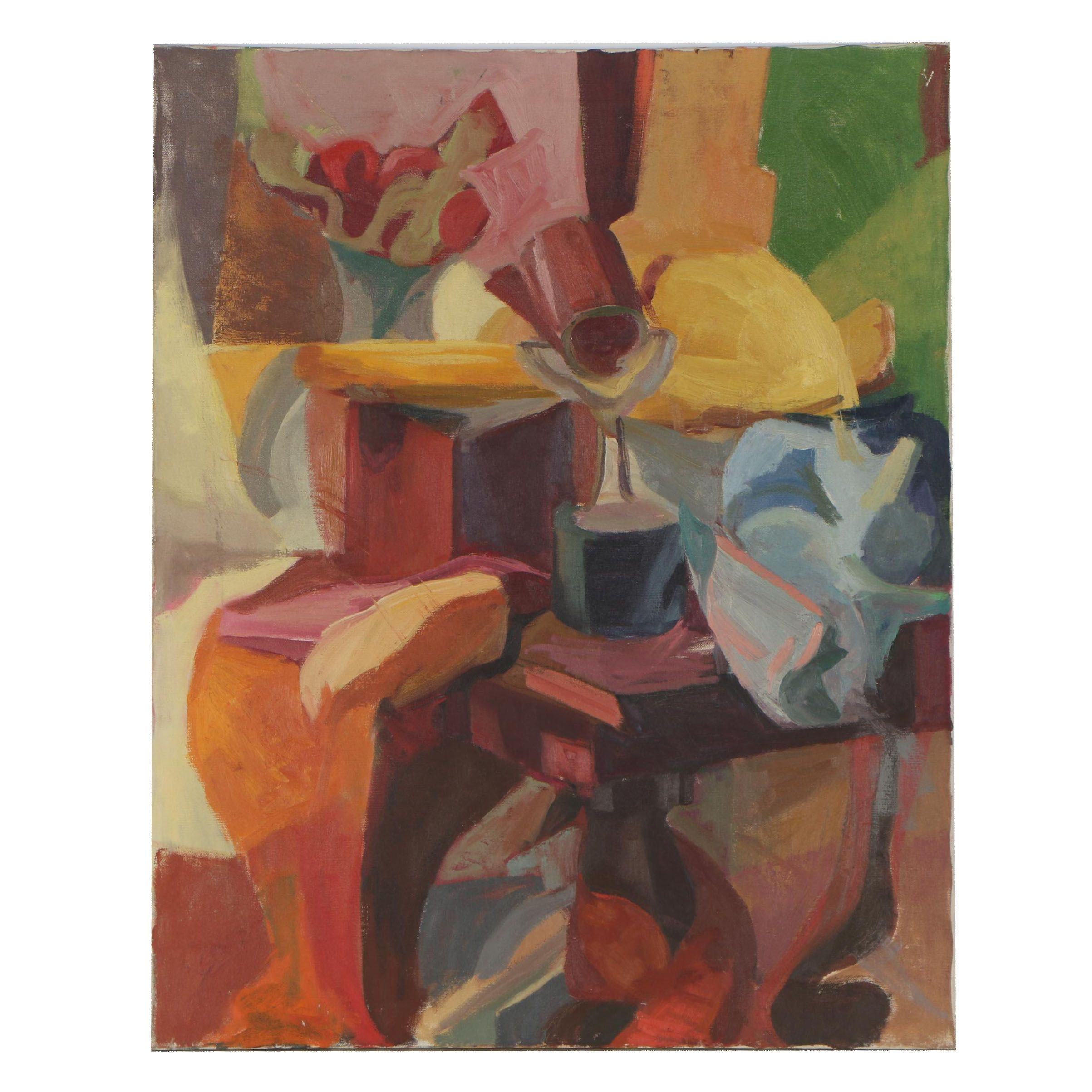 Shirley Resnick Abstract Still Life Oil Painting