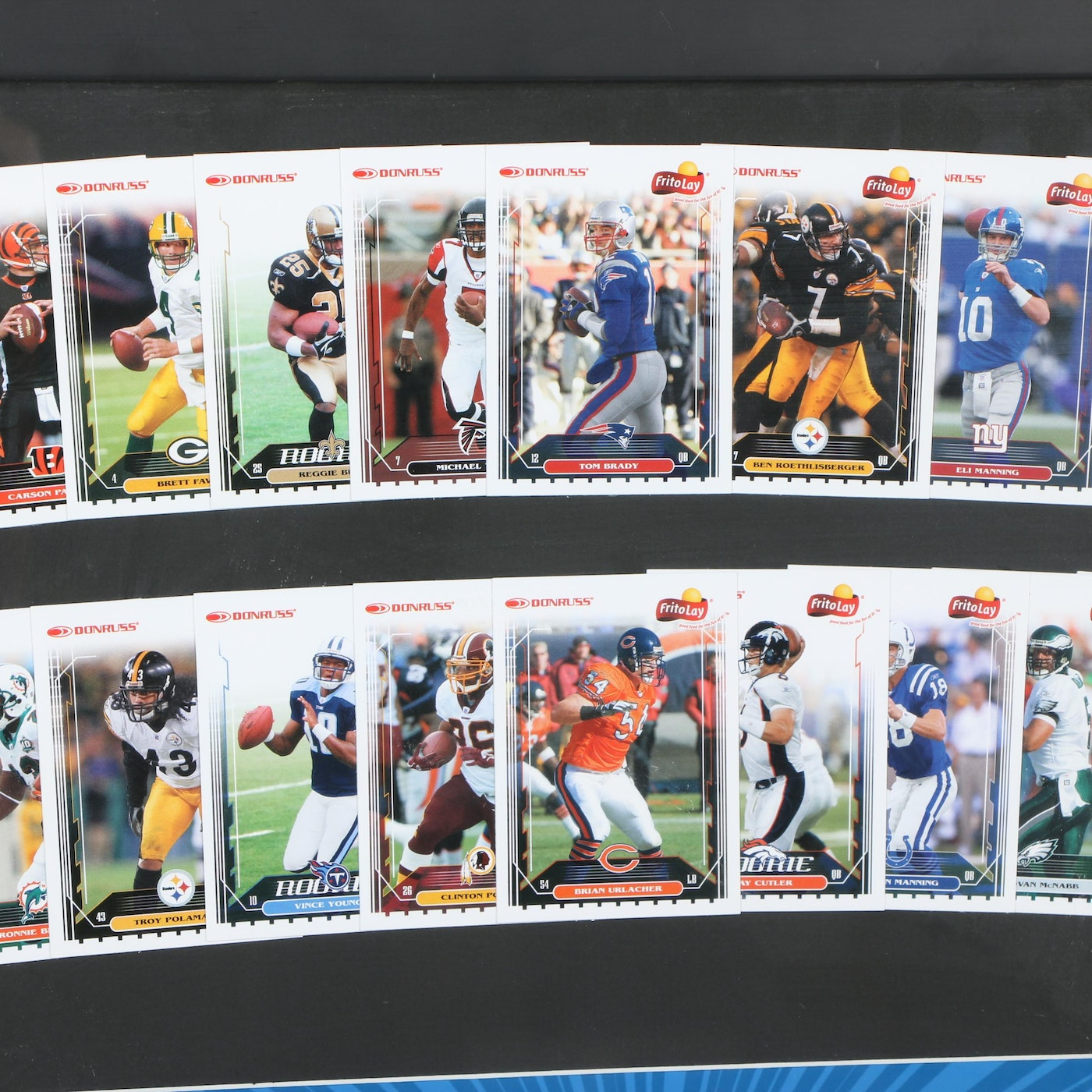 Framed Frito-Lay Multipack And Donruss Collectible NFL