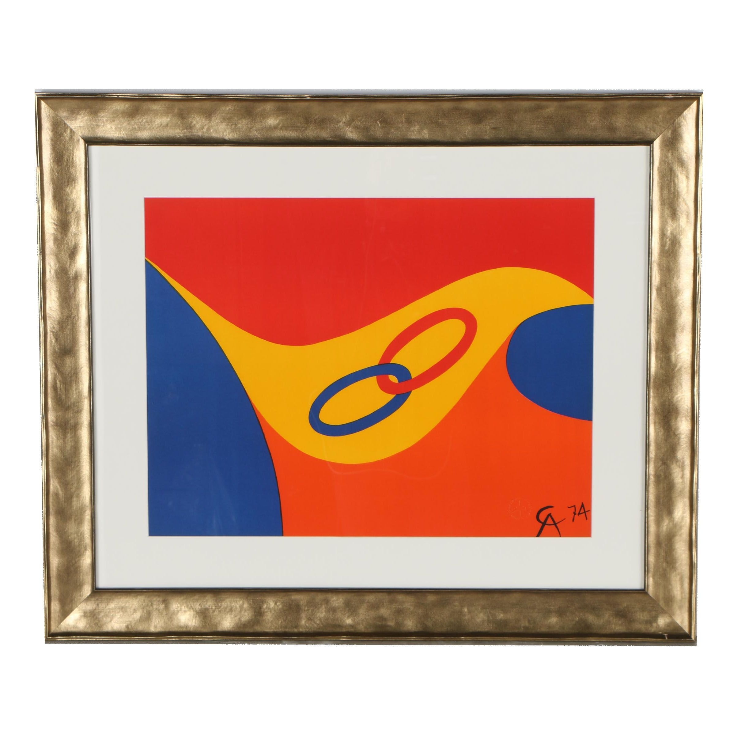 "Alexander Calder Color Lithograph from ""Flying Colors Collection"""