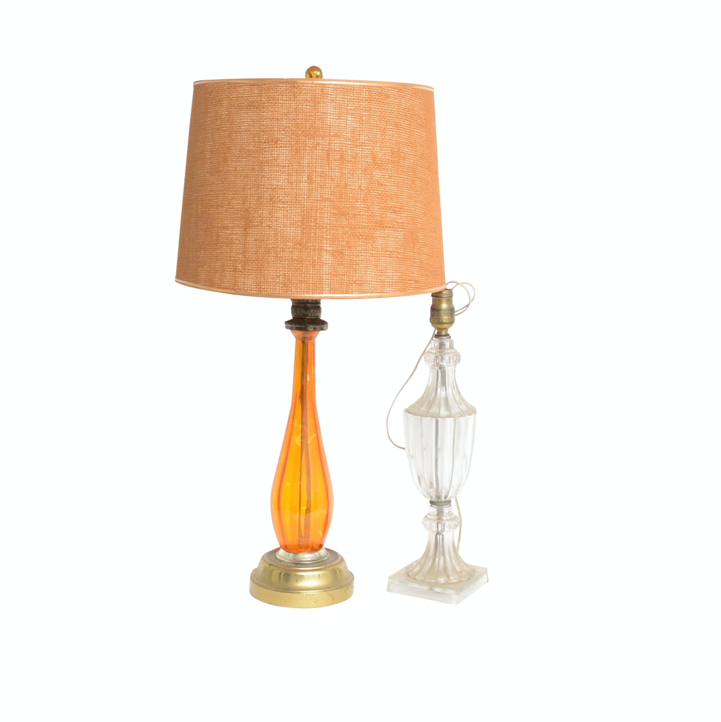 Two Glass Table Lamps