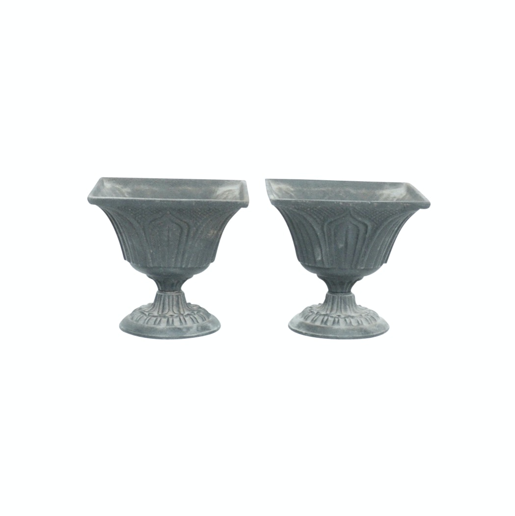 Pair of Small Cast Iron Planters