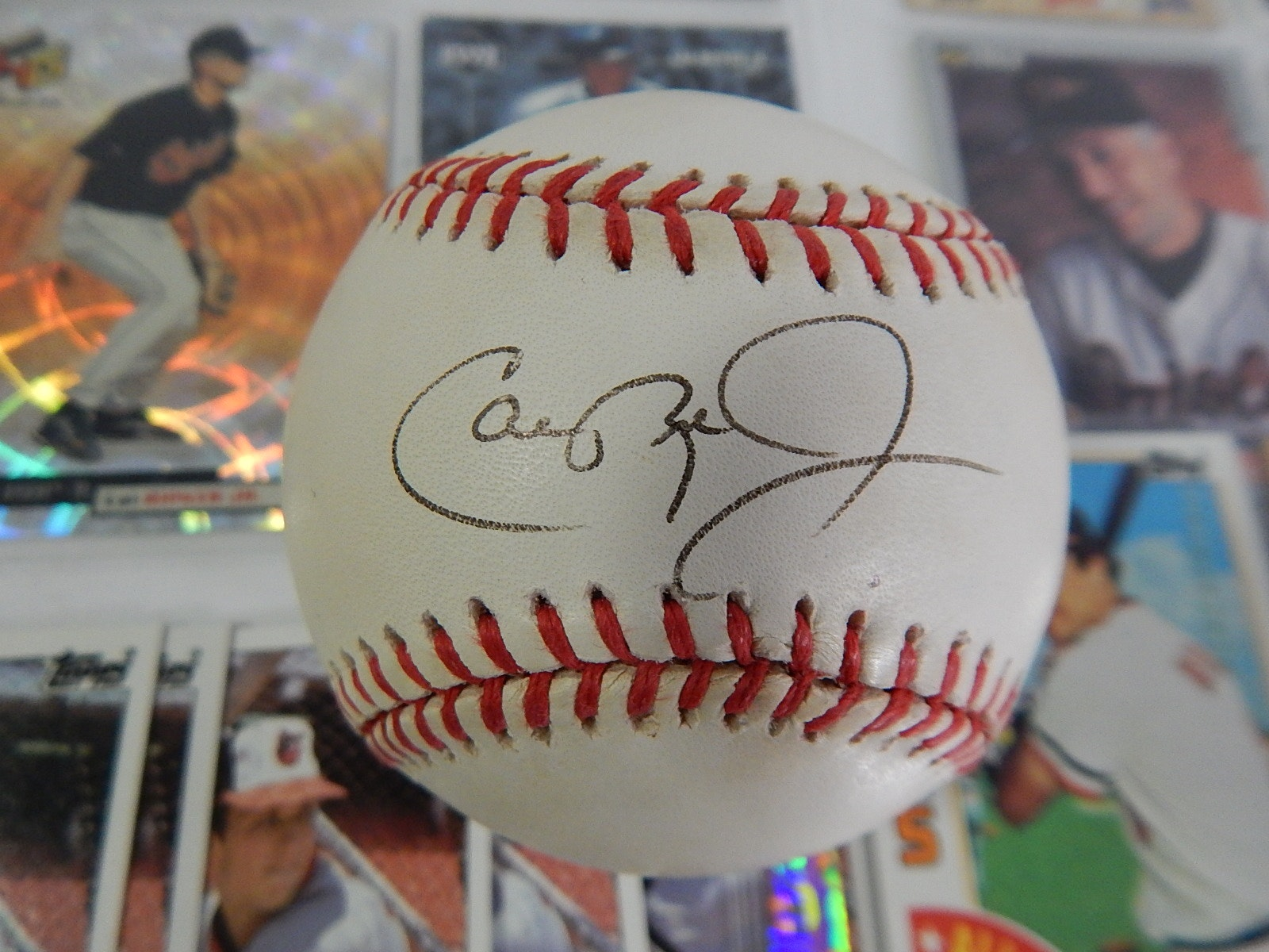 (HOF) Cal Ripken Jr. Signed Baseball and Card and Memorabilia Collection