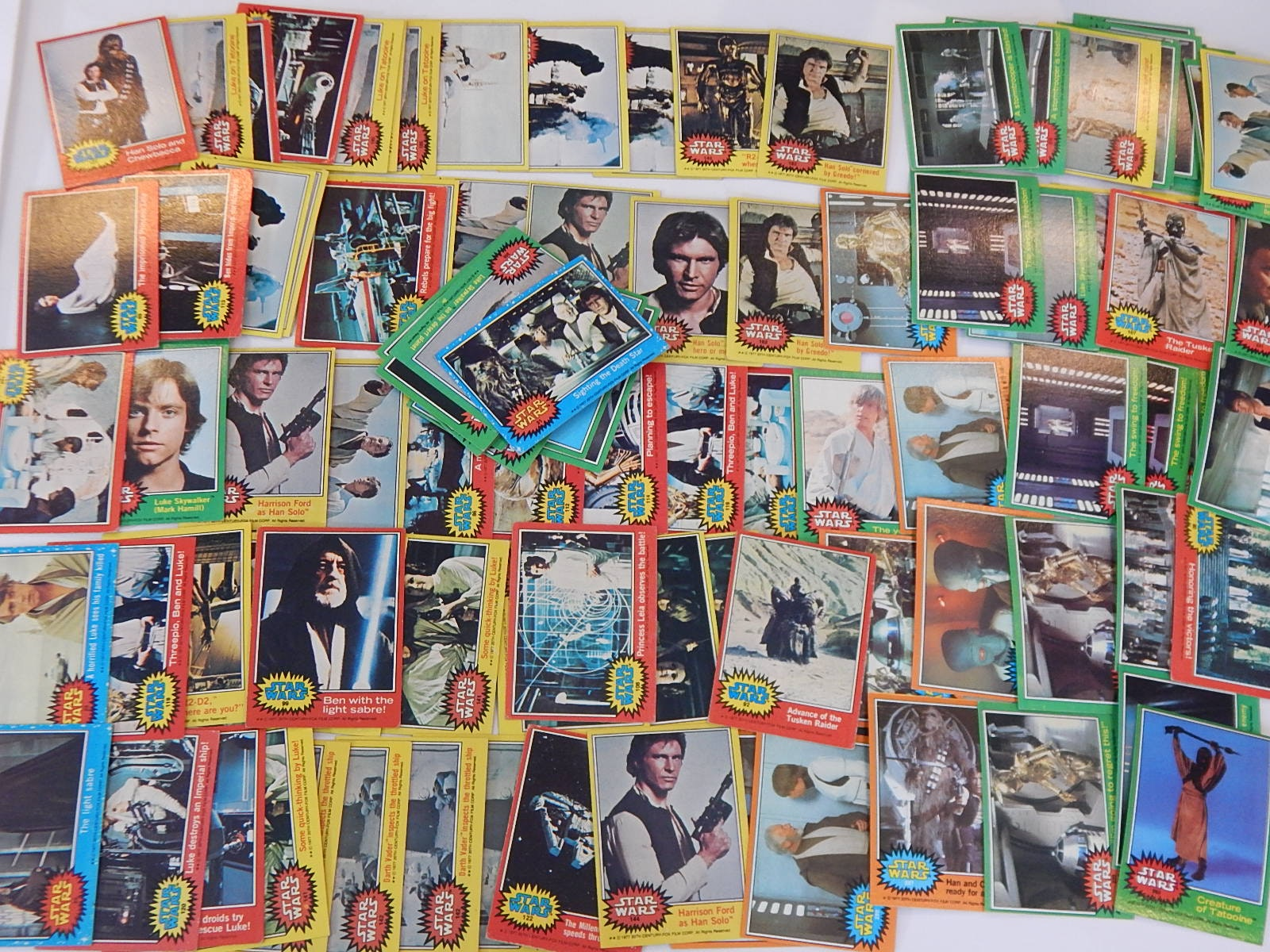 "1977 Topps ""Star Wars"" Trading Cards with Series 1, 2, 3, 4"