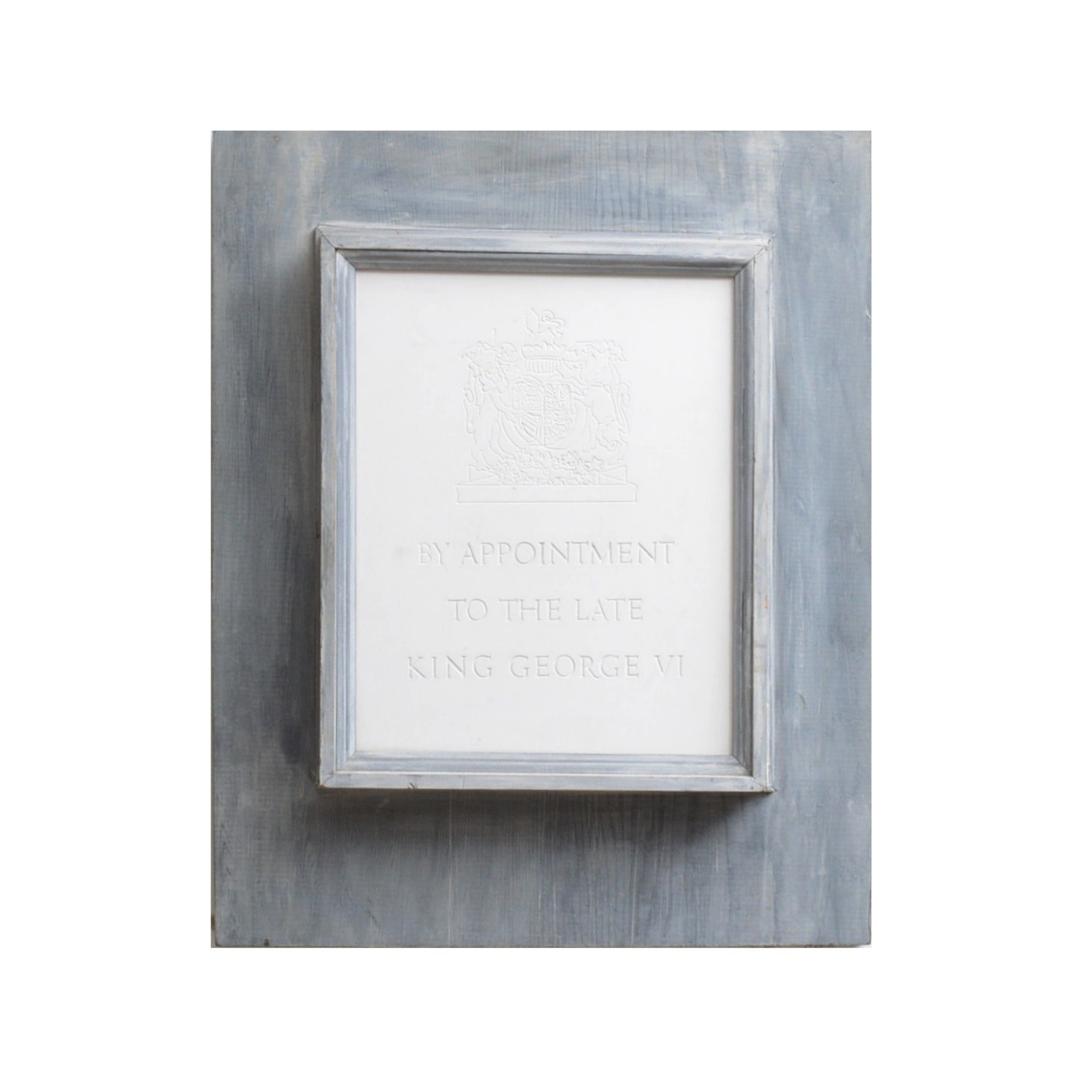 Reproduction Cast Plaster English Sign