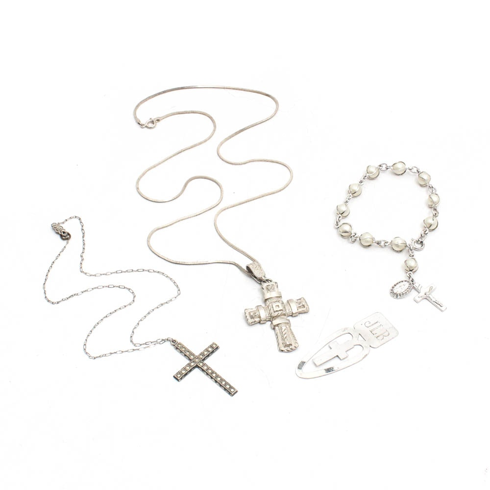 Sterling Silver Cross Jewelry, Vintage and Contemporary