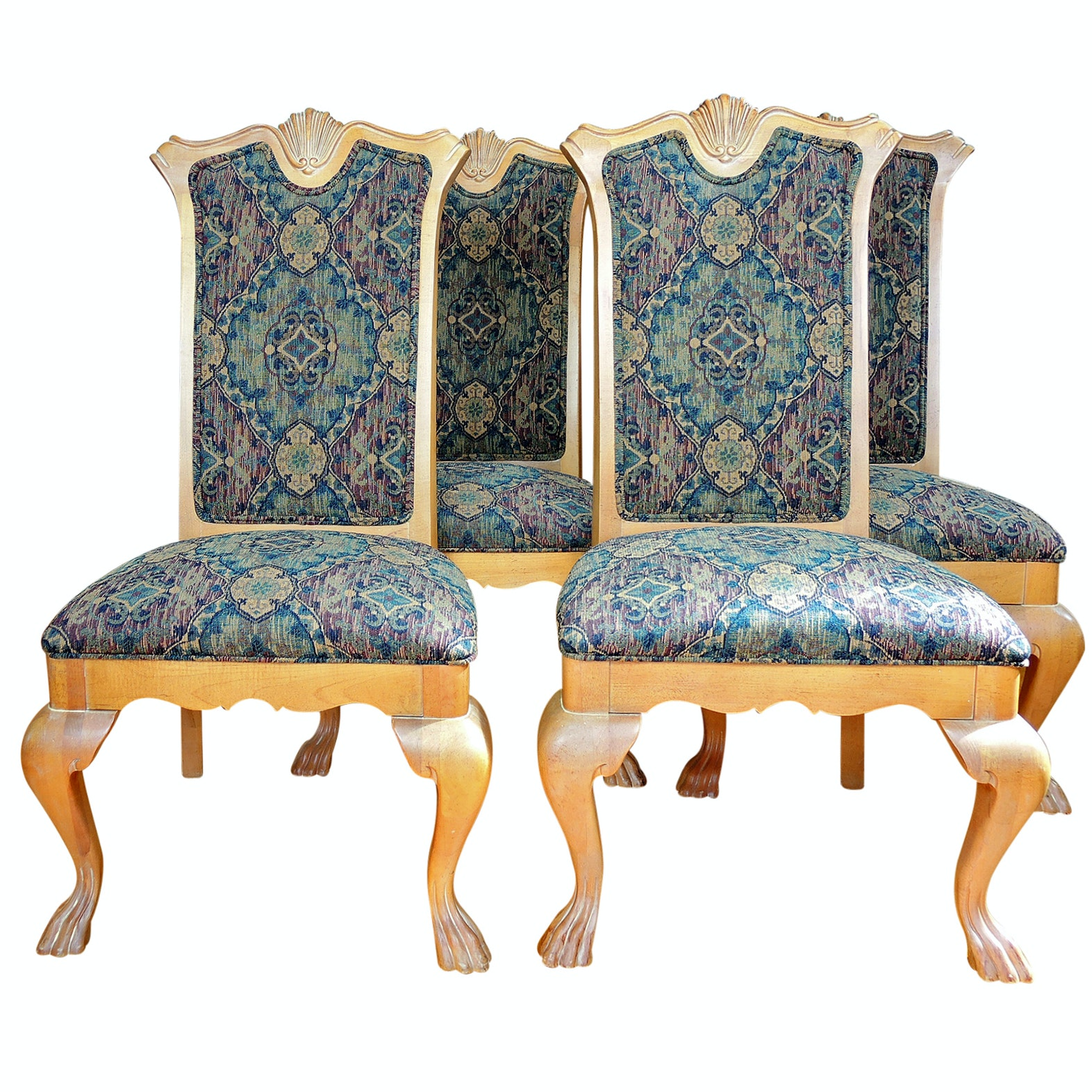 Thomasville Upholstered Dining Chairs Set of Four, Contemporary