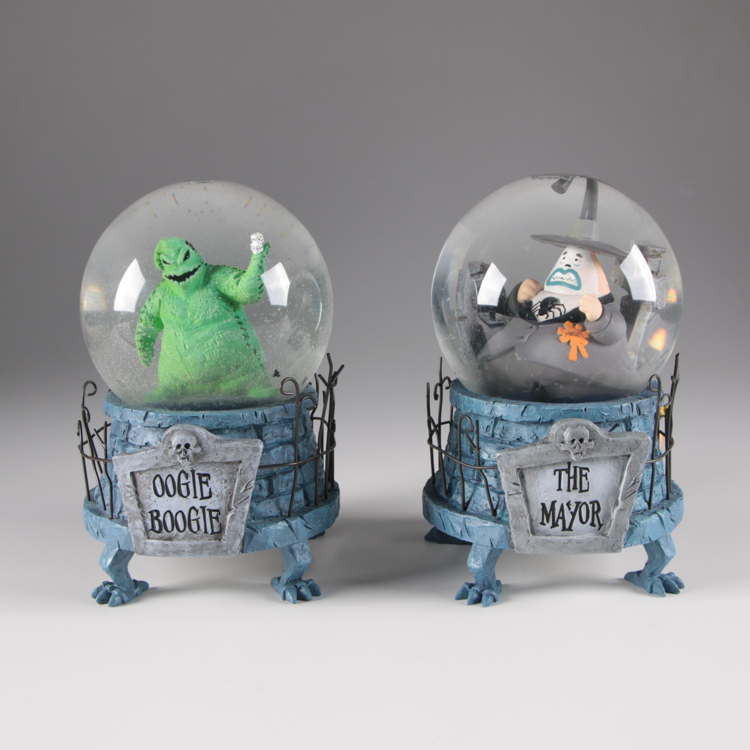 """Nightmare Before Christmas"" ""The Mayor"" and ""Oogie Boogie"" Snow Globes"