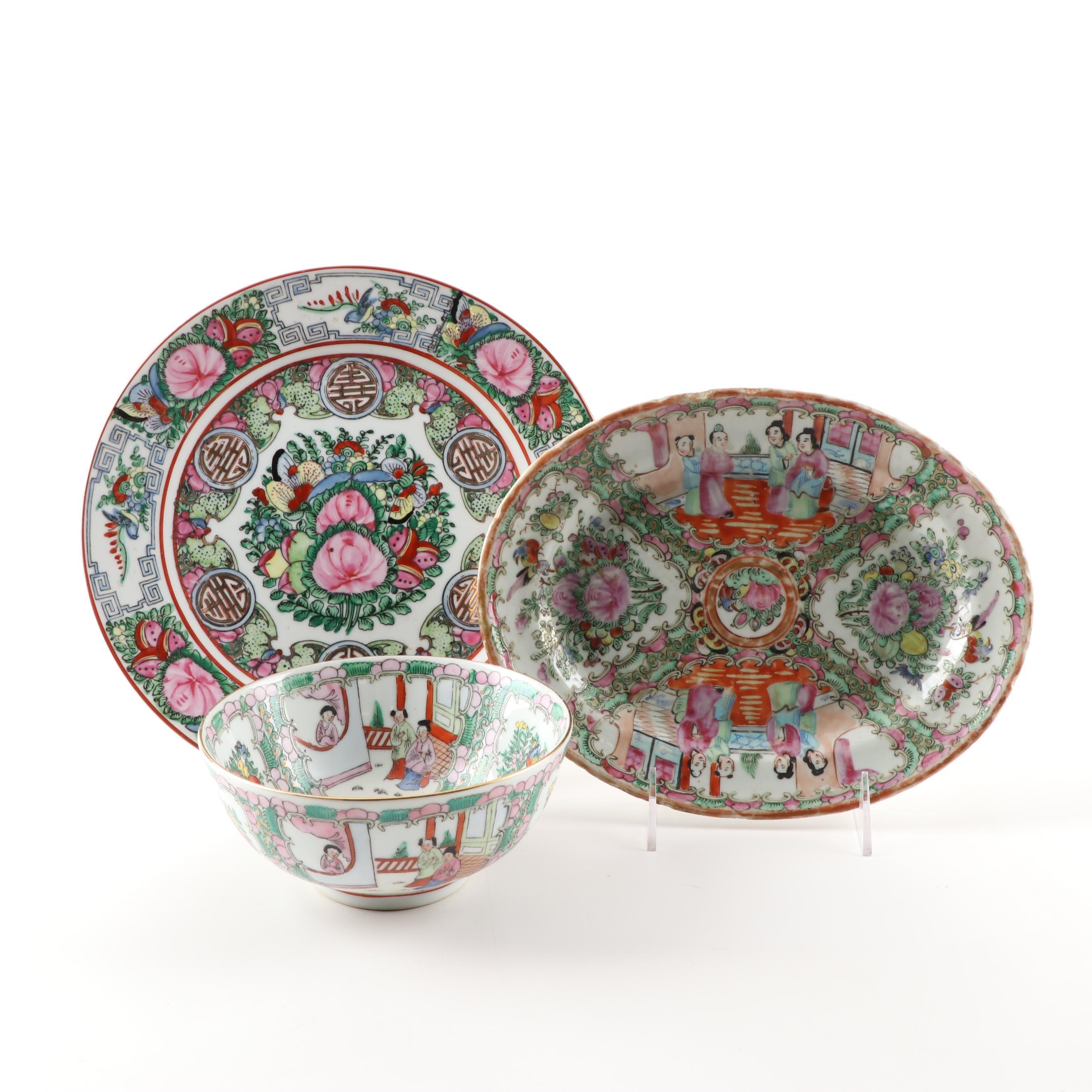 """Chinese """"Rose Medallion"""" and """"Rose Canton"""" Ceramics"""