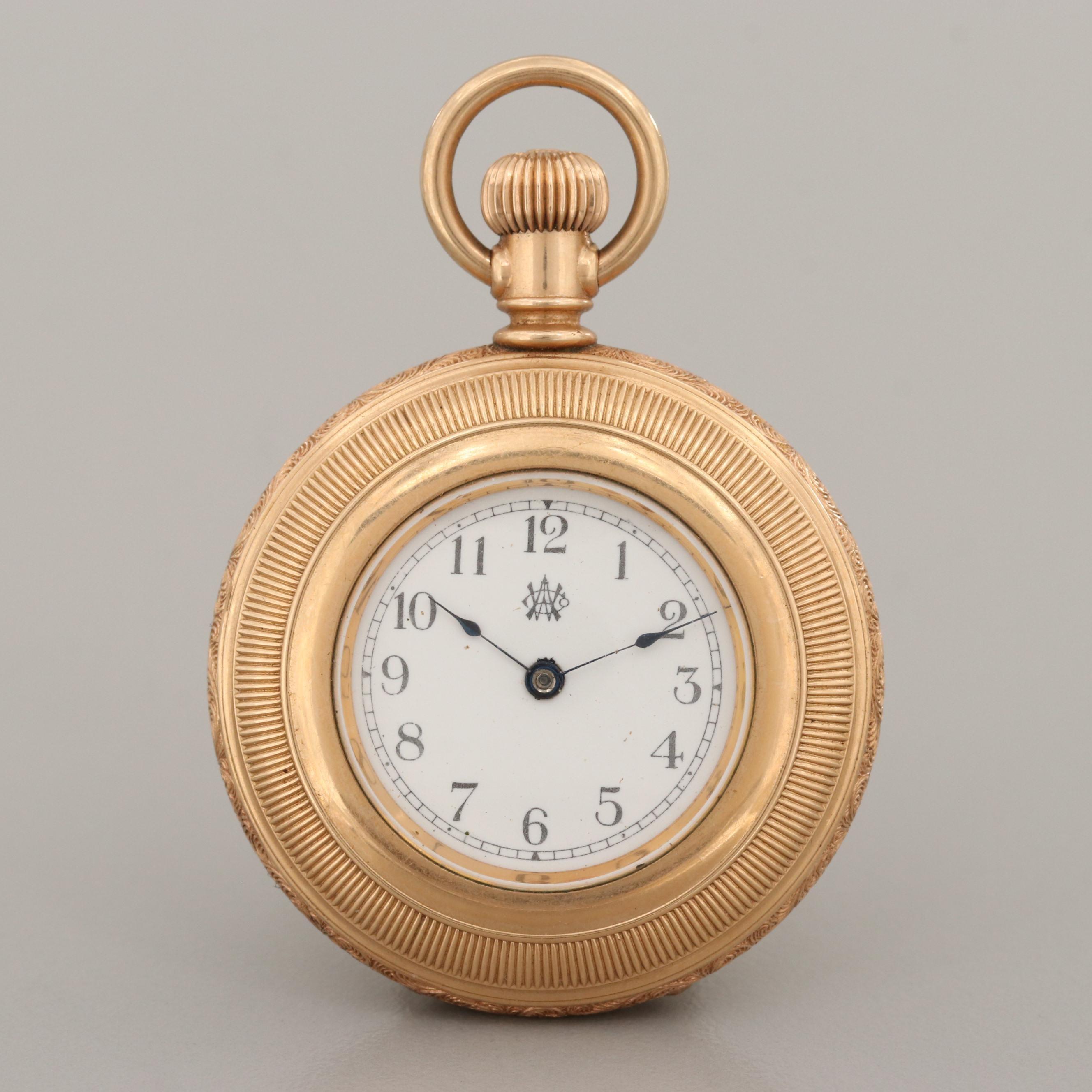 American Waltham Gold Filled Pocket Watch, 1890