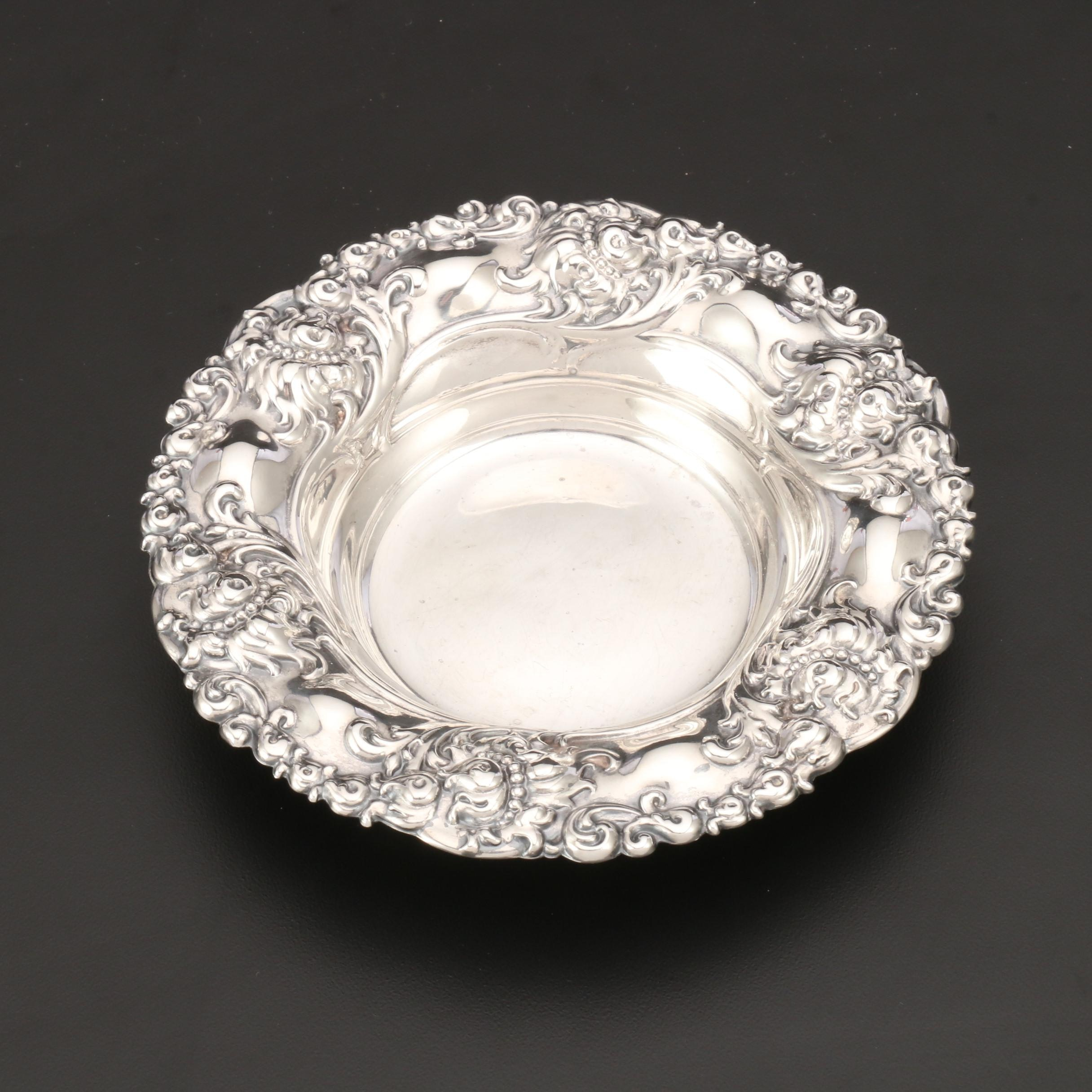 Sterling Silver Repoussé Bowl by Alvin Manufacturing Co.