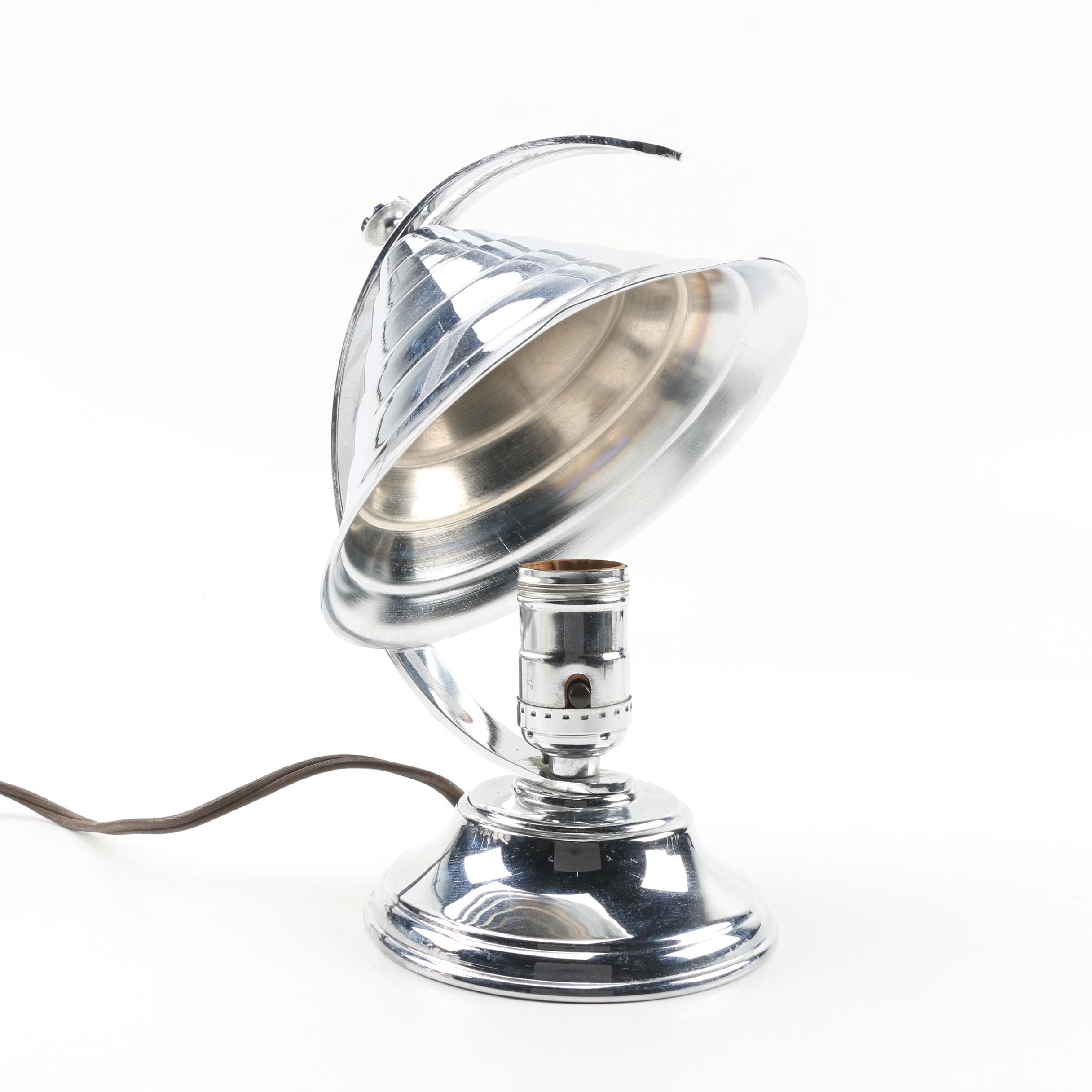 Art Deco Coulter Electric Lamp with Adjustable Shade, 1930s