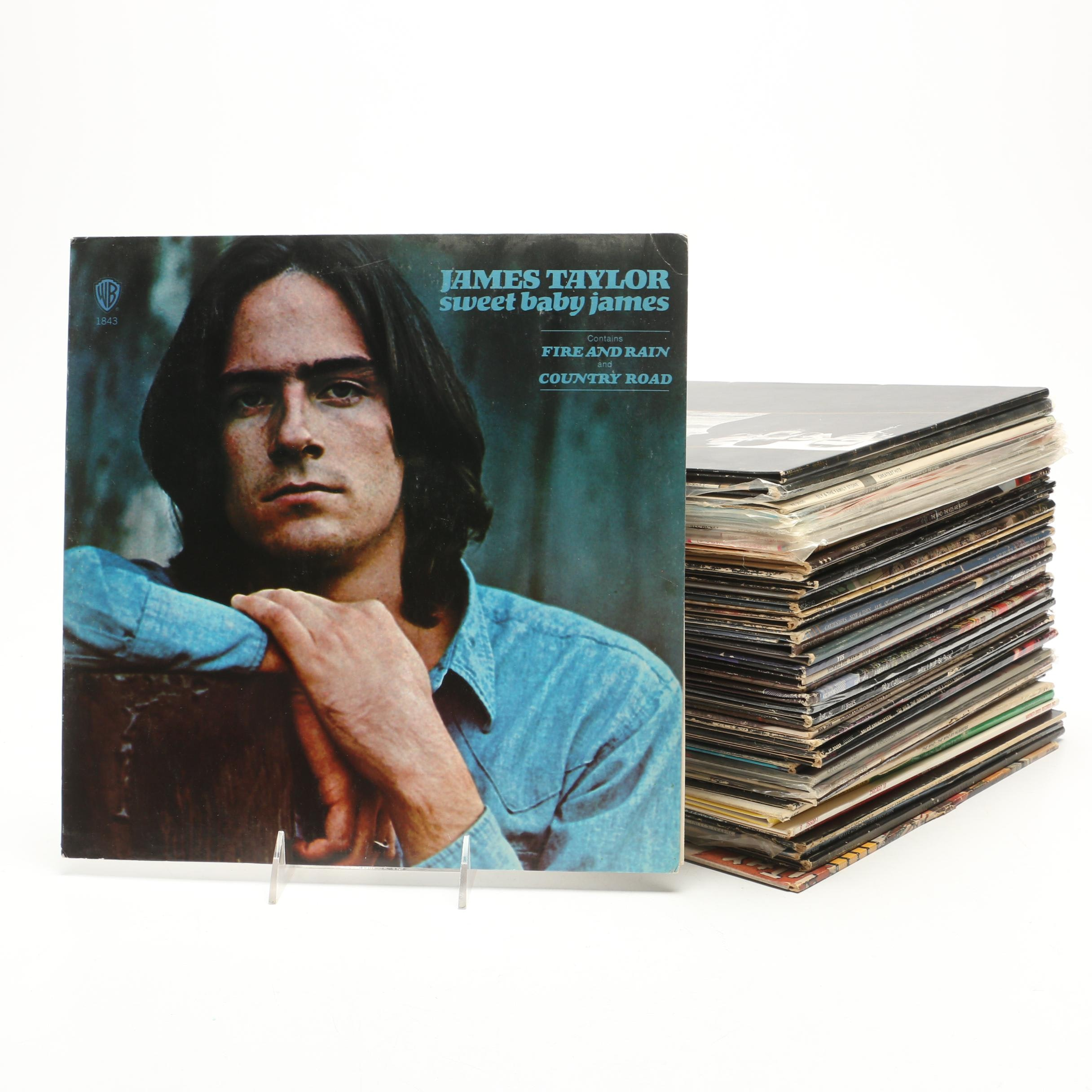 Records Including James Taylor, The Who, Sly and the Family Stone and More