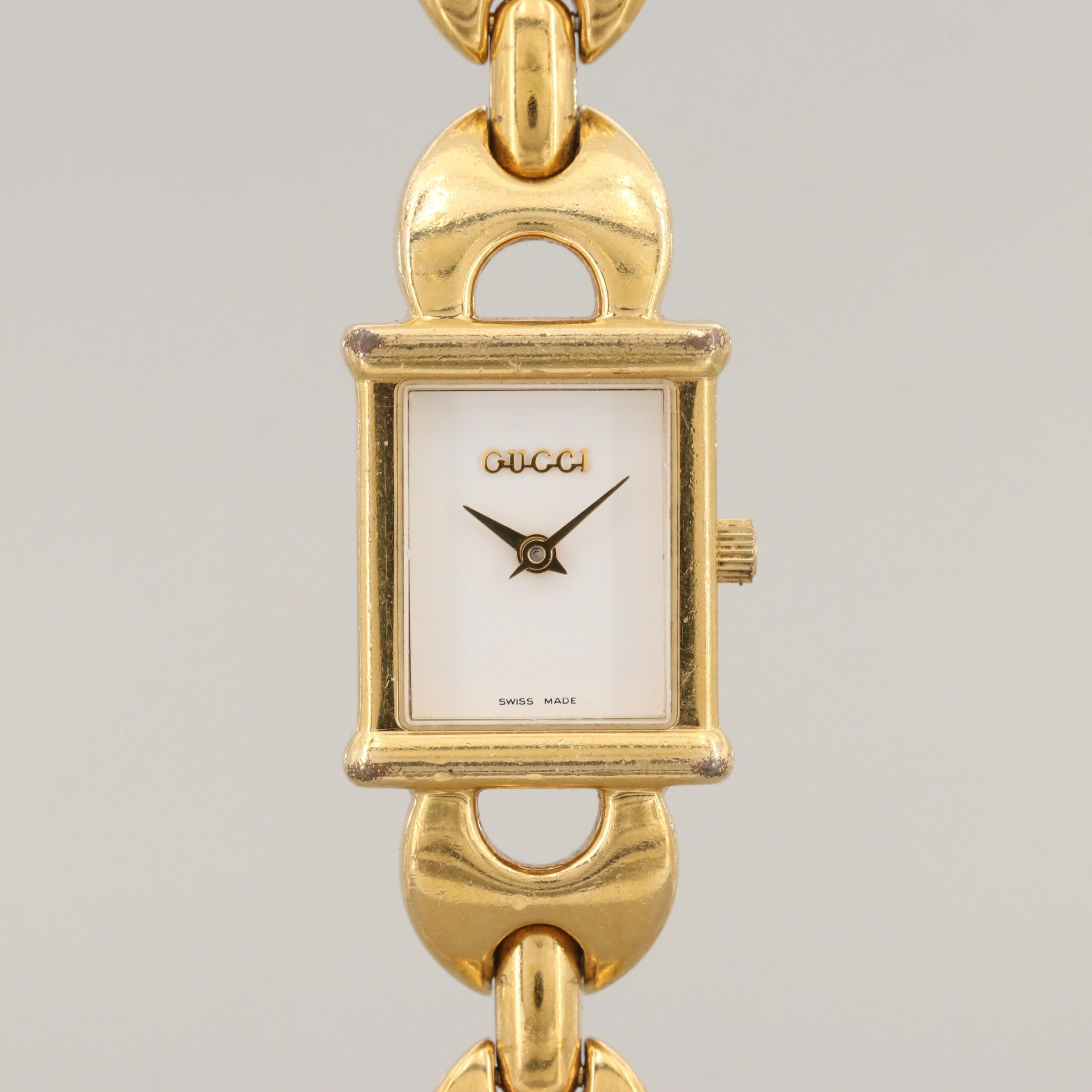 Gucci 1800L Gold Tone Quartz Wristwatch