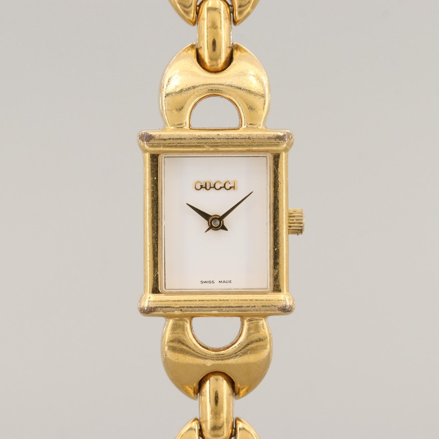 b1bf4aa2980 Gucci 1800L Gold Tone Quartz Wristwatch   EBTH