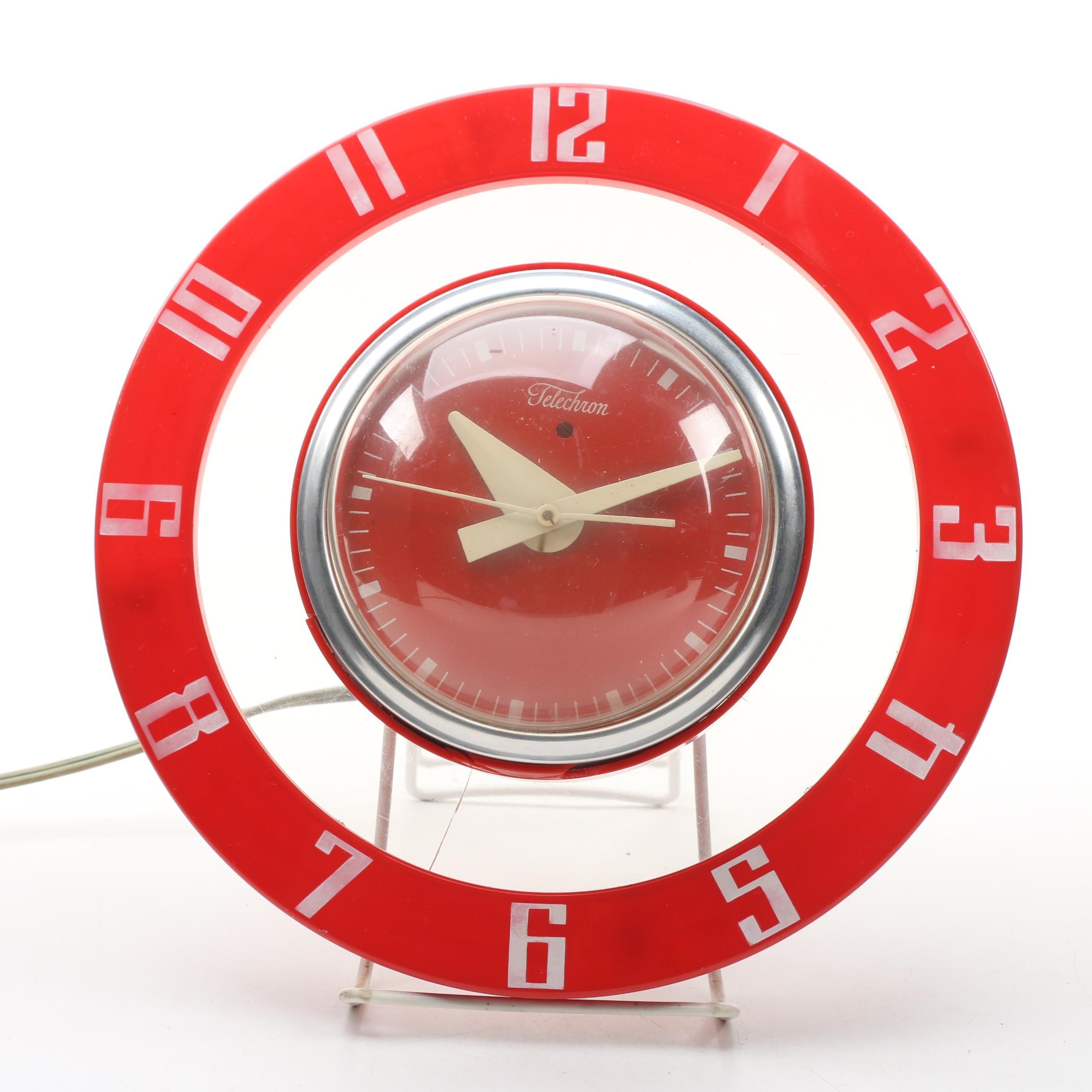 Telechron 2H39 Wall Clock, Mid-Century