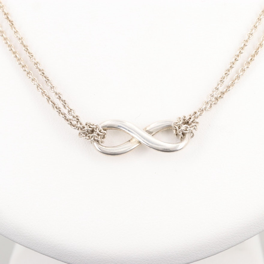 377e8353f Tiffany & Co. Sterling Silver Infinity Necklace : EBTH