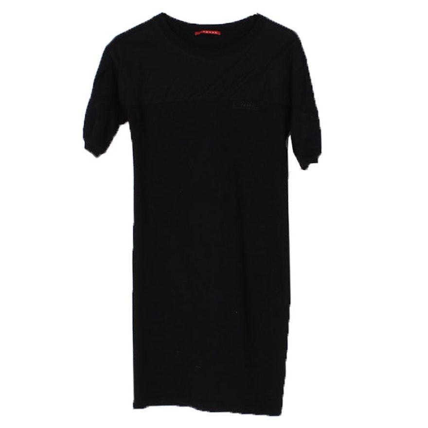 c70a5cd55aec Women's Prada Black Knit Sweater Dress with Mesh Overlay : EBTH