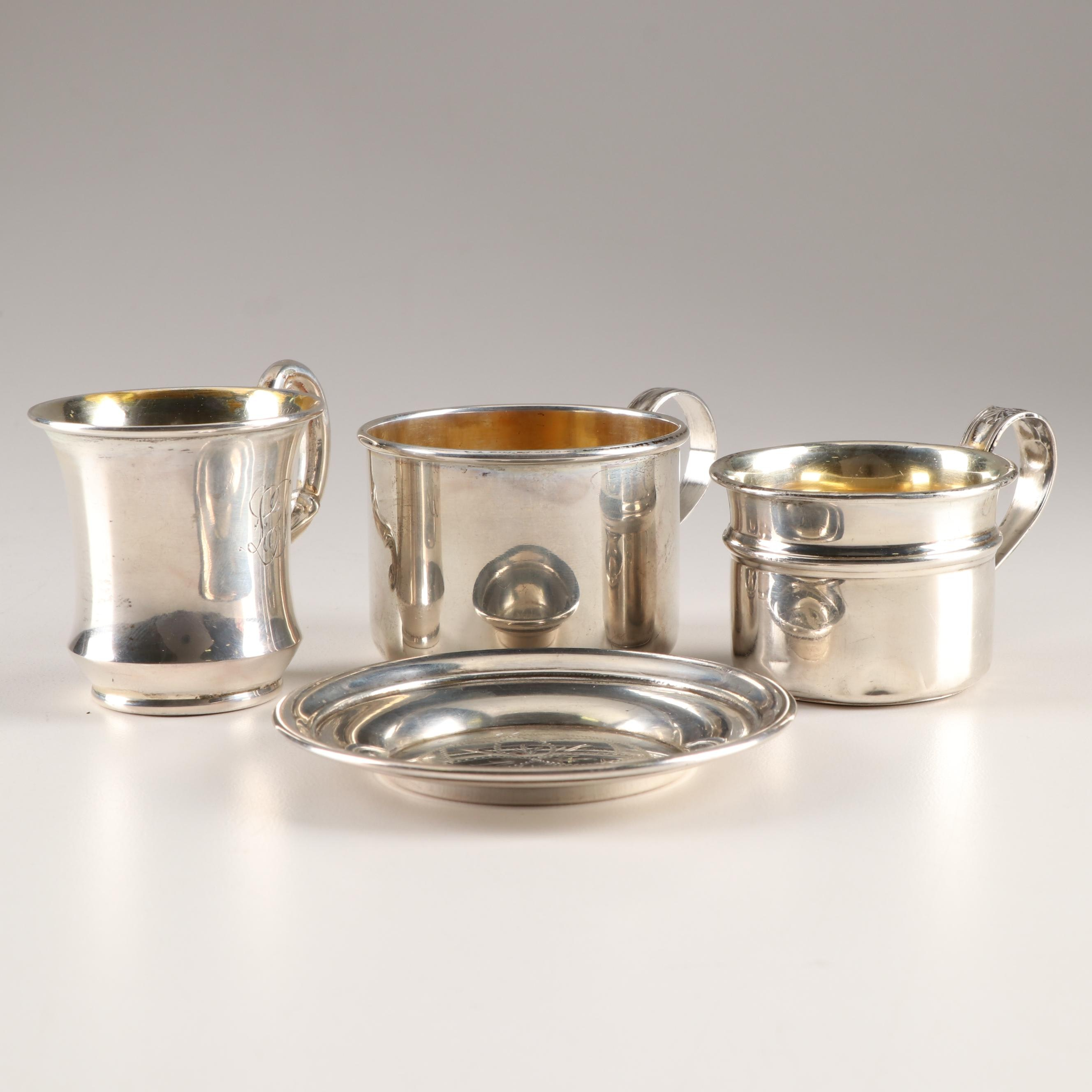 Sterling Baby Cups and Dish