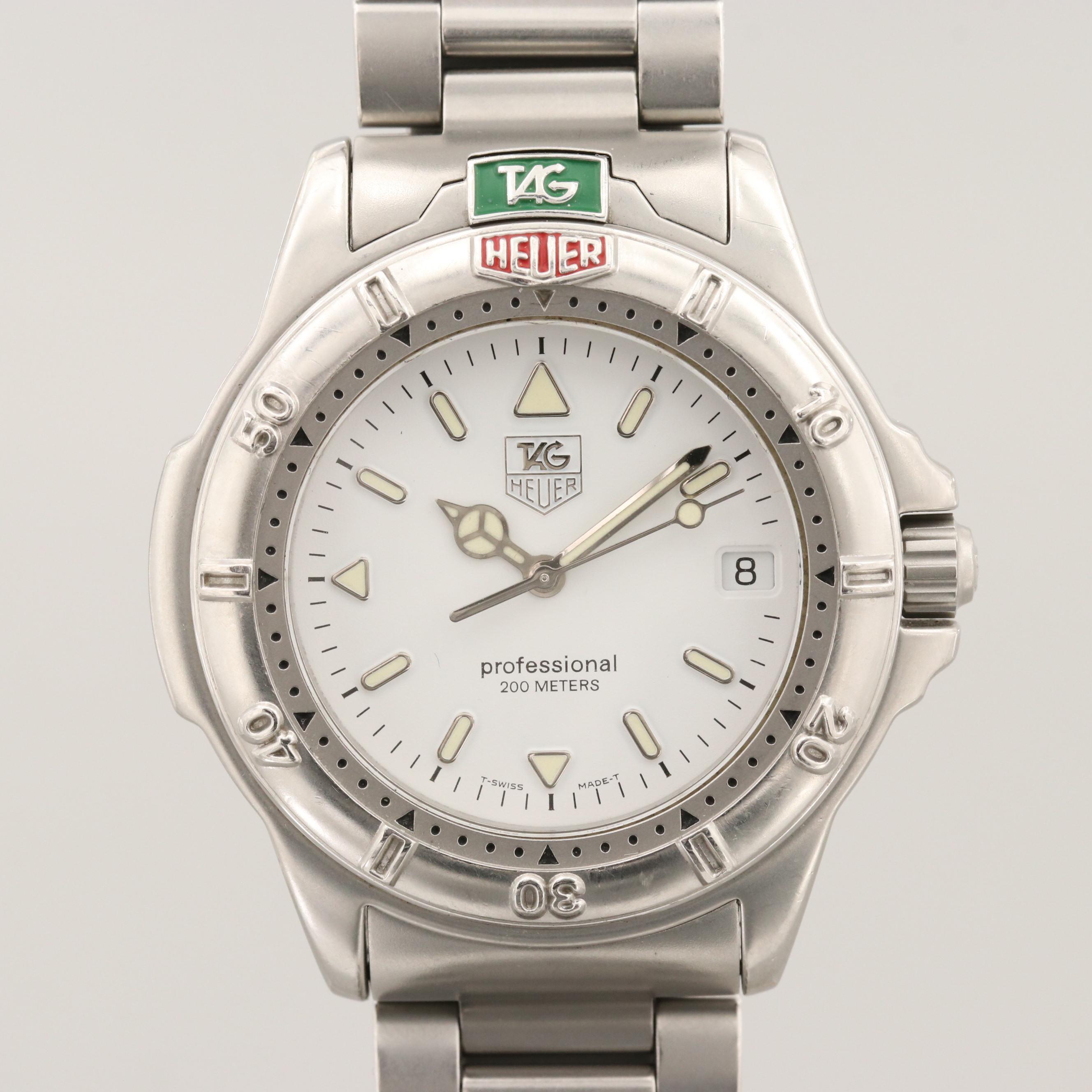 TAG Heuer 4000 Stainless Steel Quartz Wristwatch, Circa 1995