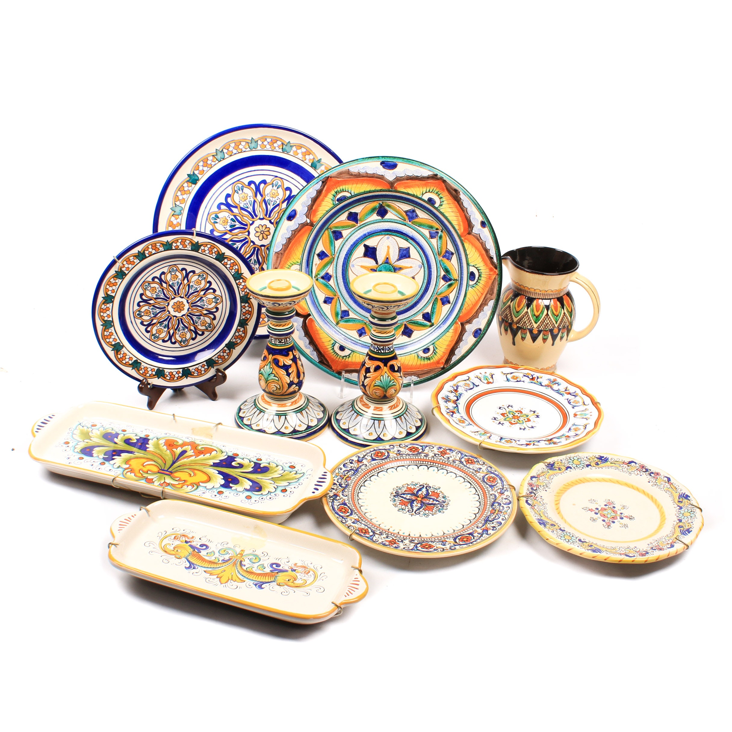Italian and Deruta Art Pottery Collection