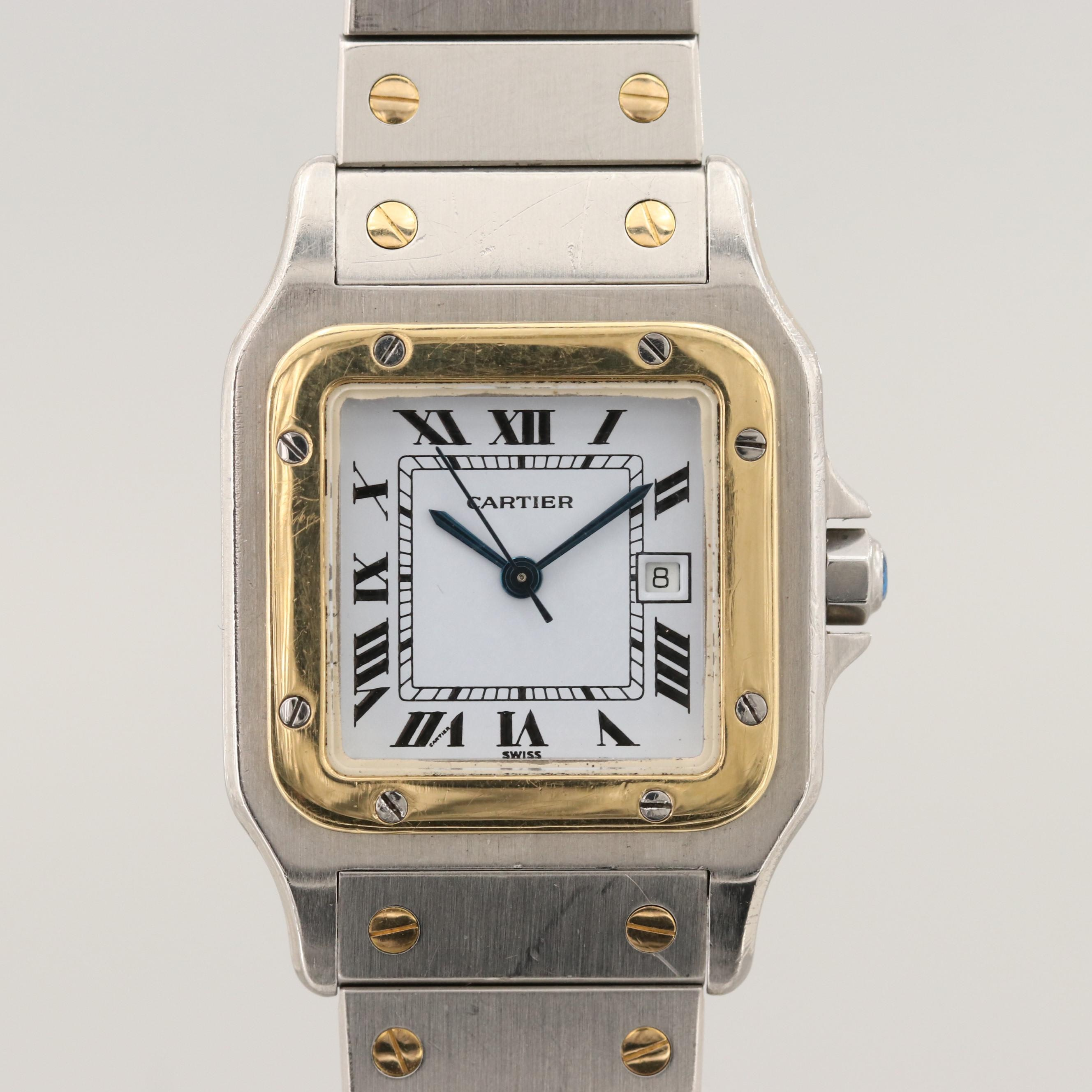 Cartier Santos Galbee 18K Yellow Gold and Stainless Steel Automatic Wristwatch