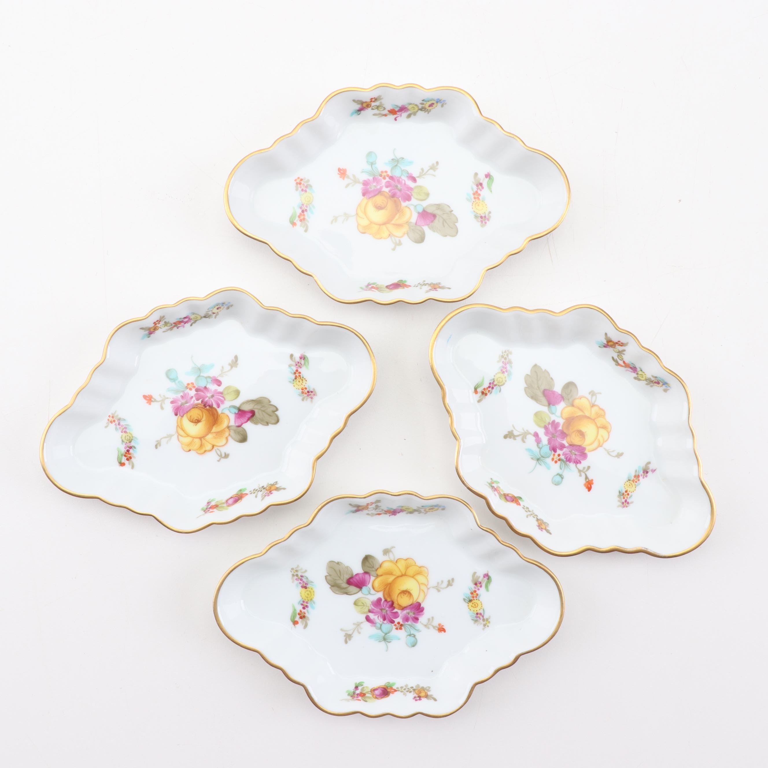 Herend Hungary Hand-Painted Salad Trays