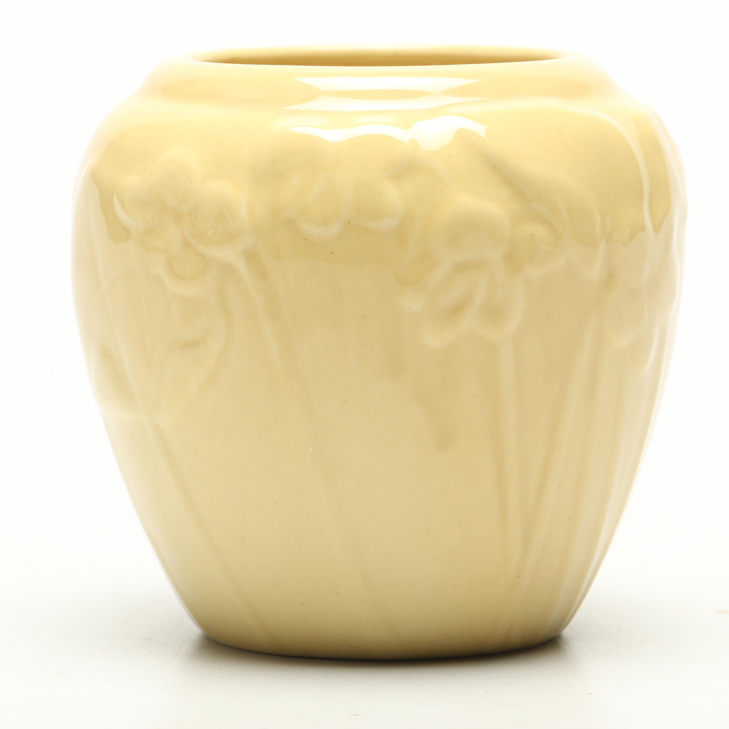 Rookwood Pottery Yellow Floral Vase, 1946