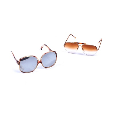 09734a0cdd528 Ray-Ban Outdoorsman Aviator Sunglasses and Brown Case   EBTH