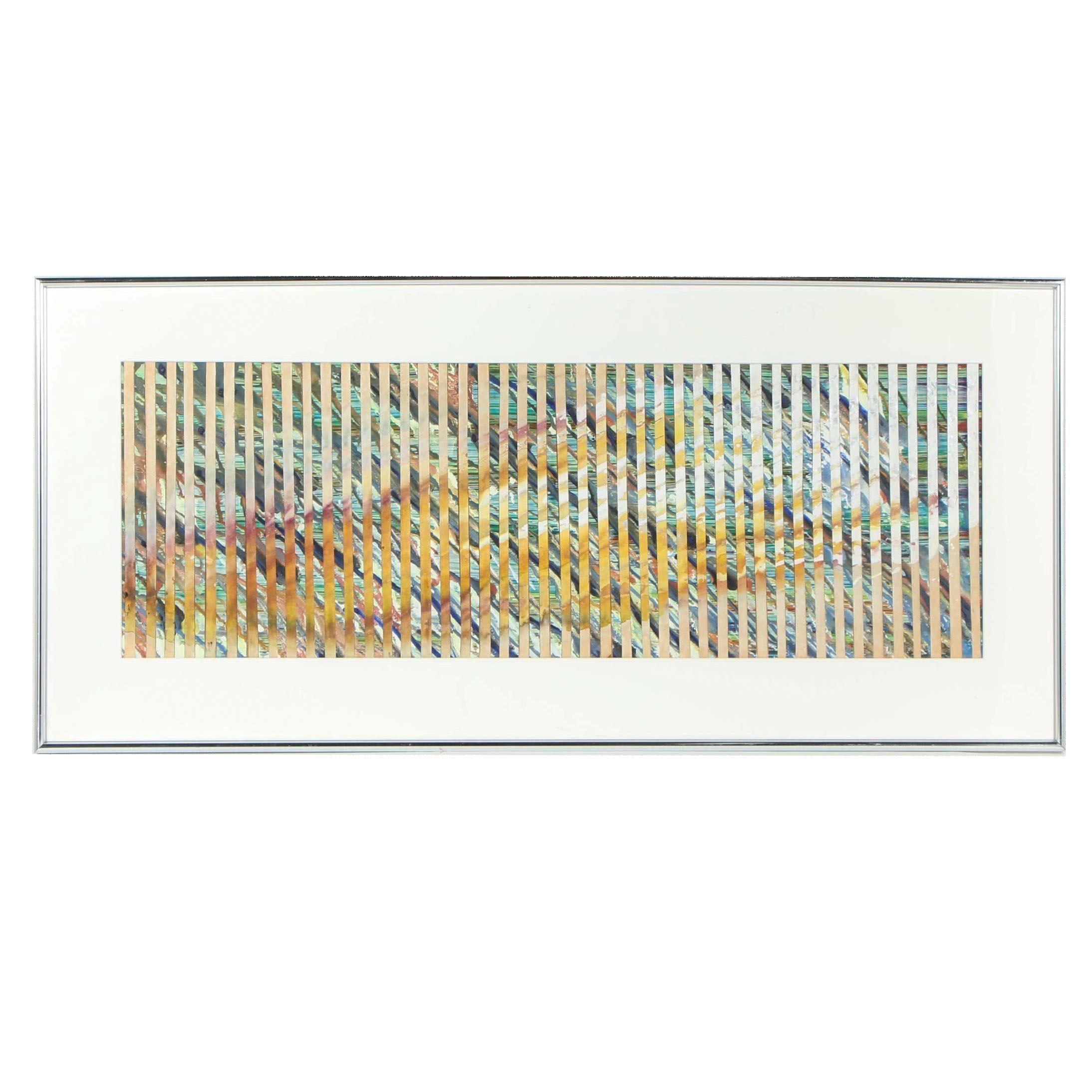 "Ursula Schneider Acrylic Painting ""Flames"""
